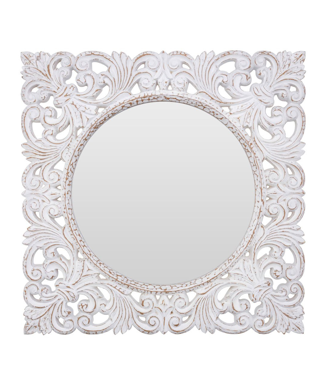 Round White Wall Mirrors With Well Liked New Florence White Wall Mirror (View 18 of 20)