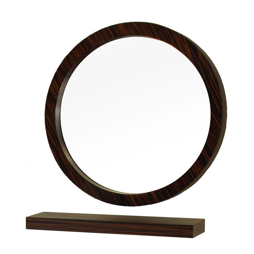 Round Wood Wall Mirrors With Regard To Most Popular Bellaterra Home Indianola 22 In L X 22 In (View 7 of 20)