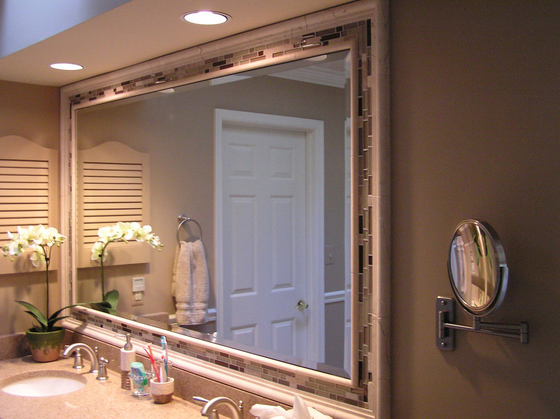 Royals Courage : The With Best And Newest Hogge Modern Brushed Nickel Large Frame Wall Mirrors (View 17 of 20)