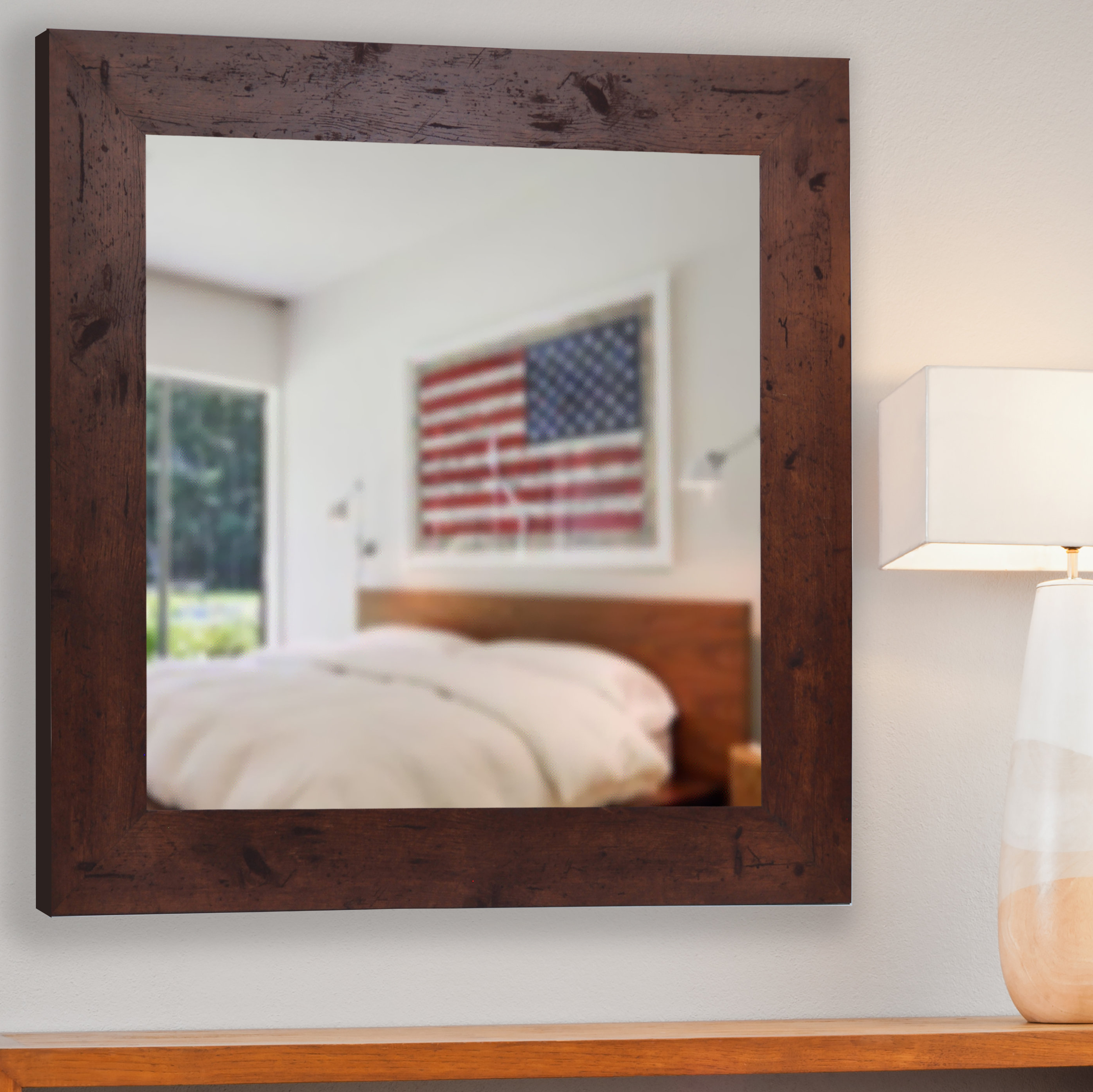 Rustic Wall Mirror Within Recent Rustic Wall Mirrors (Gallery 6 of 20)