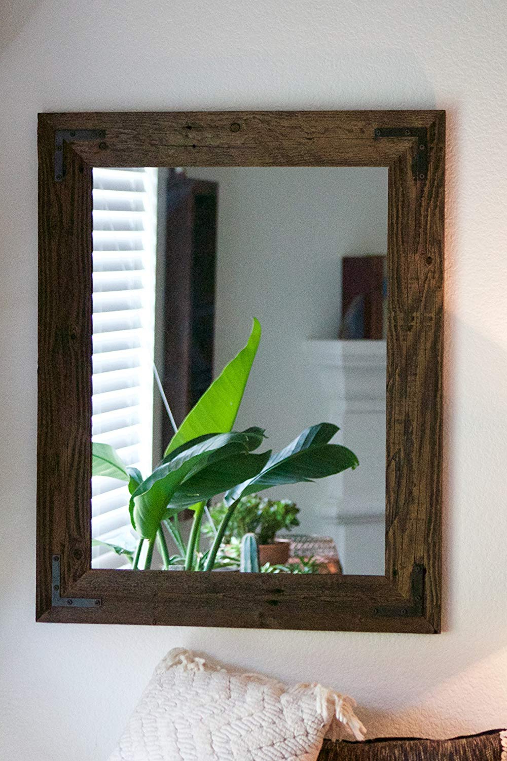 Rustic Wall Mirrors Intended For Well Known Rustic Wall Mirror – Large Wall Mirror – 24 X 30 Vanity Mirror – Bathroom Mirror – Rustic Mirror – Reclaimed Wood Mirror – Bathroom Vanity (View 7 of 20)