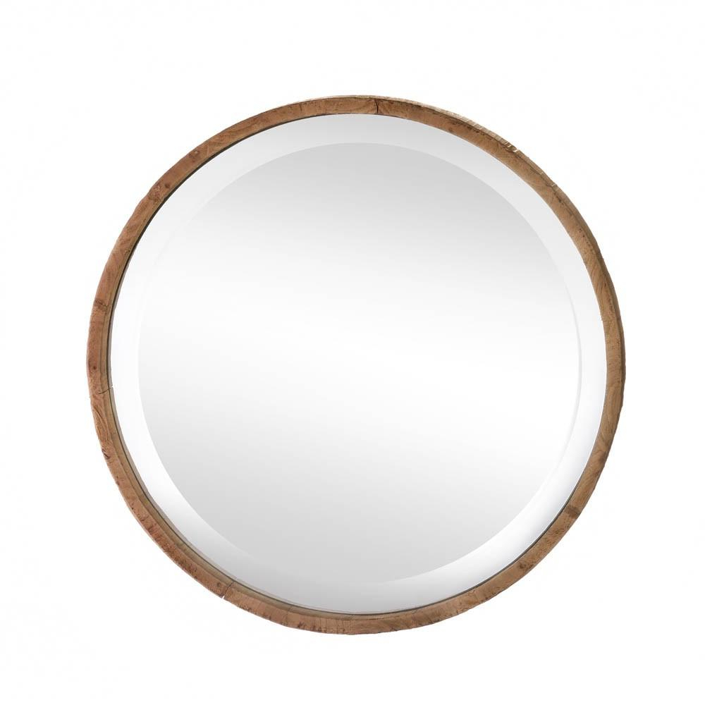 Rustic Wall Mirrors, Round Wall (Gallery 14 of 20)