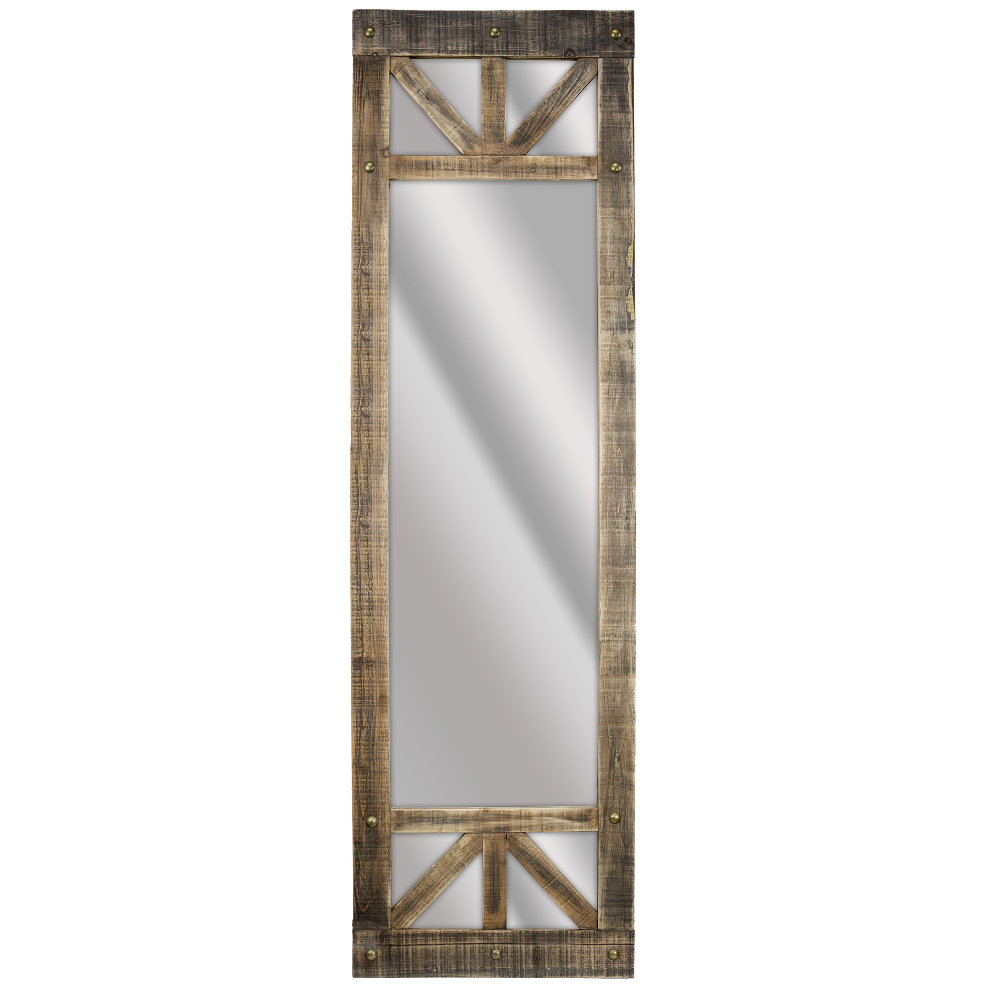 Rustic Wood Wall Mirrors Within Recent Delicia Décor Rustic Wood Full Length Wall Mirror (View 14 of 20)