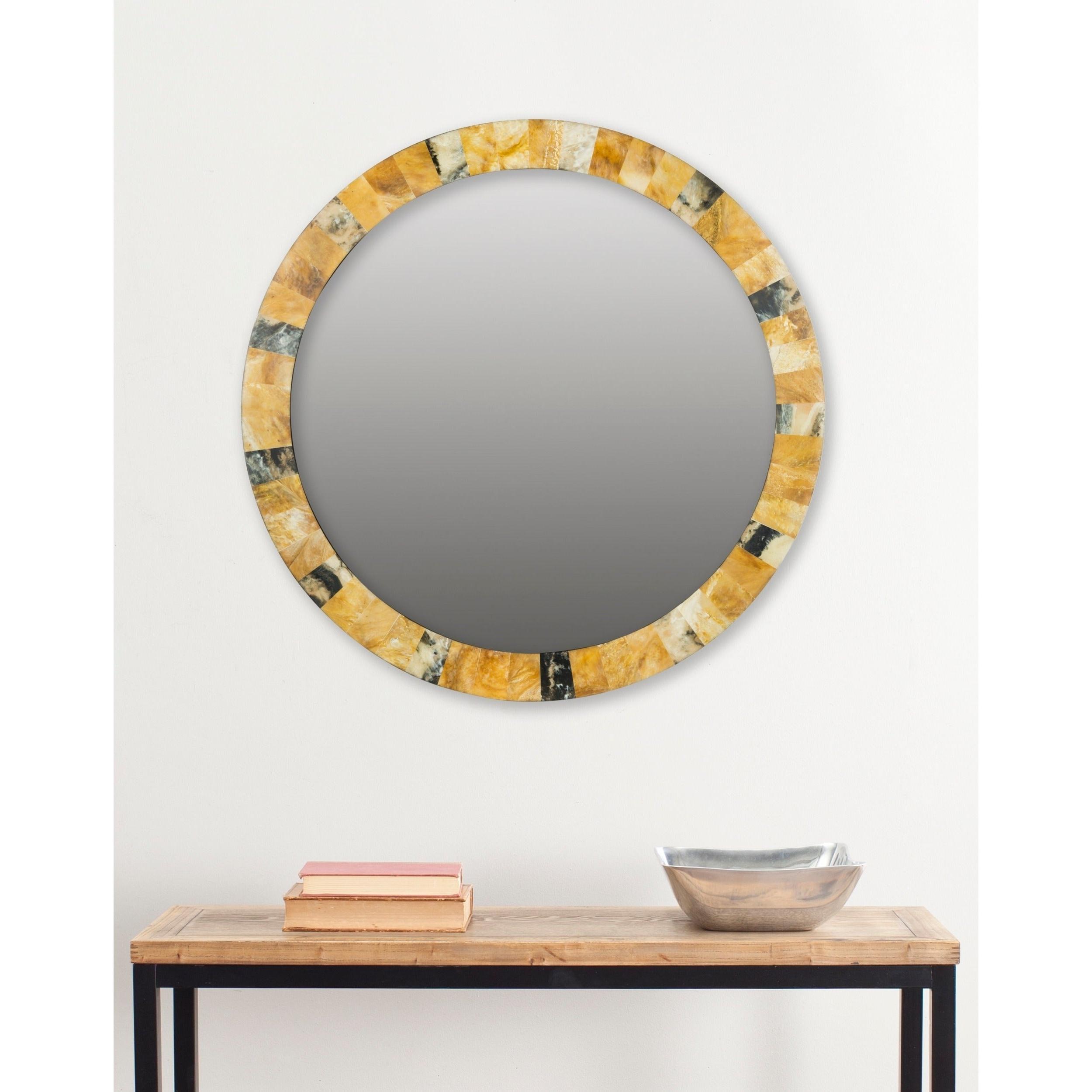 "Safavieh Lydia Artisan Multi 29 Inch Mirror – 29"" X 29"" X (View 10 of 20)"