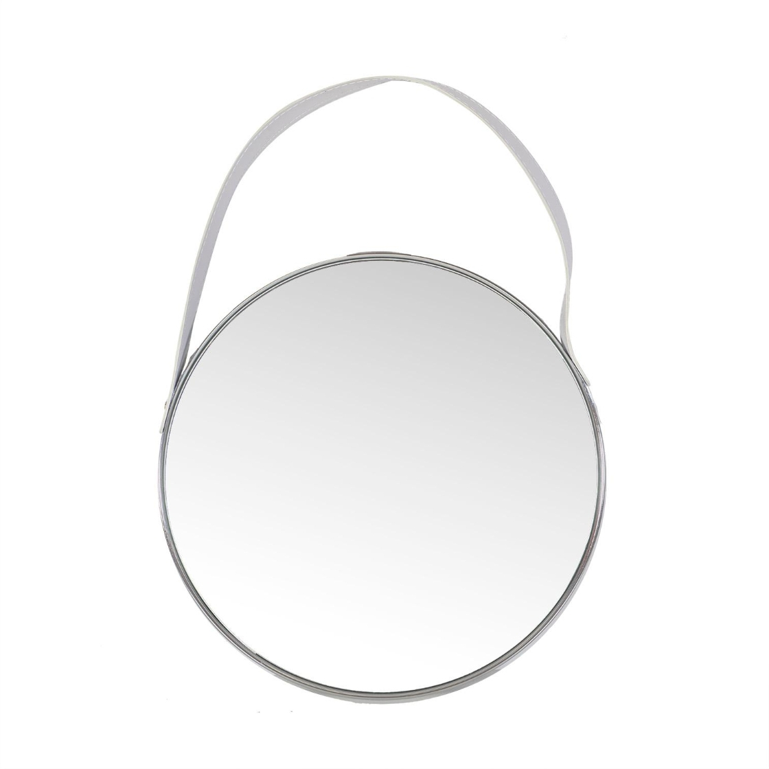 Safety Wall Mirrors Intended For Newest Wall Mirror Crystal With Safety Film D42,5x3,5cm, Chromed Steel (View 11 of 20)