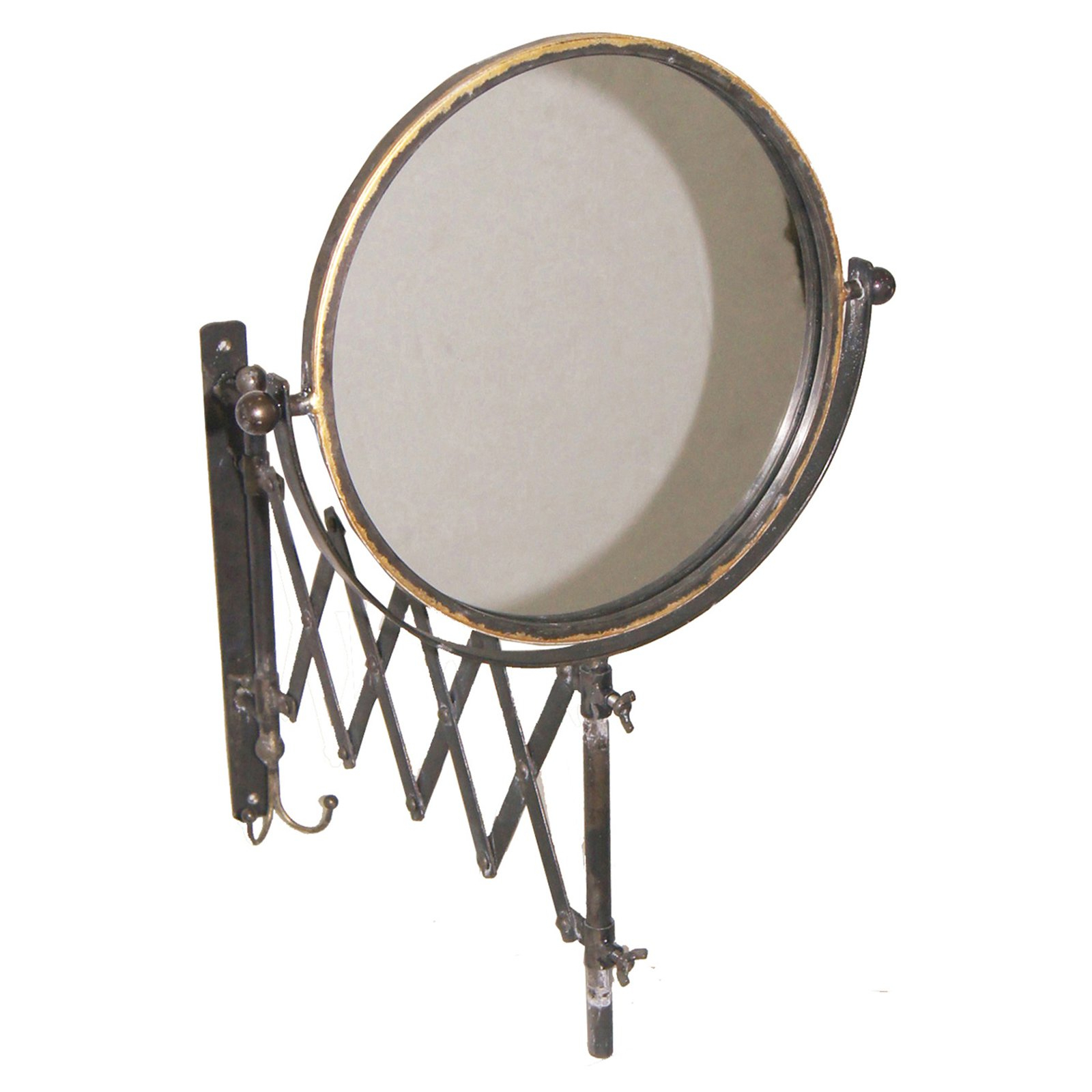 Sagebrook Home Metal Accordion Wall Mirror – 13.7W X 22.7H In (View 3 of 20)
