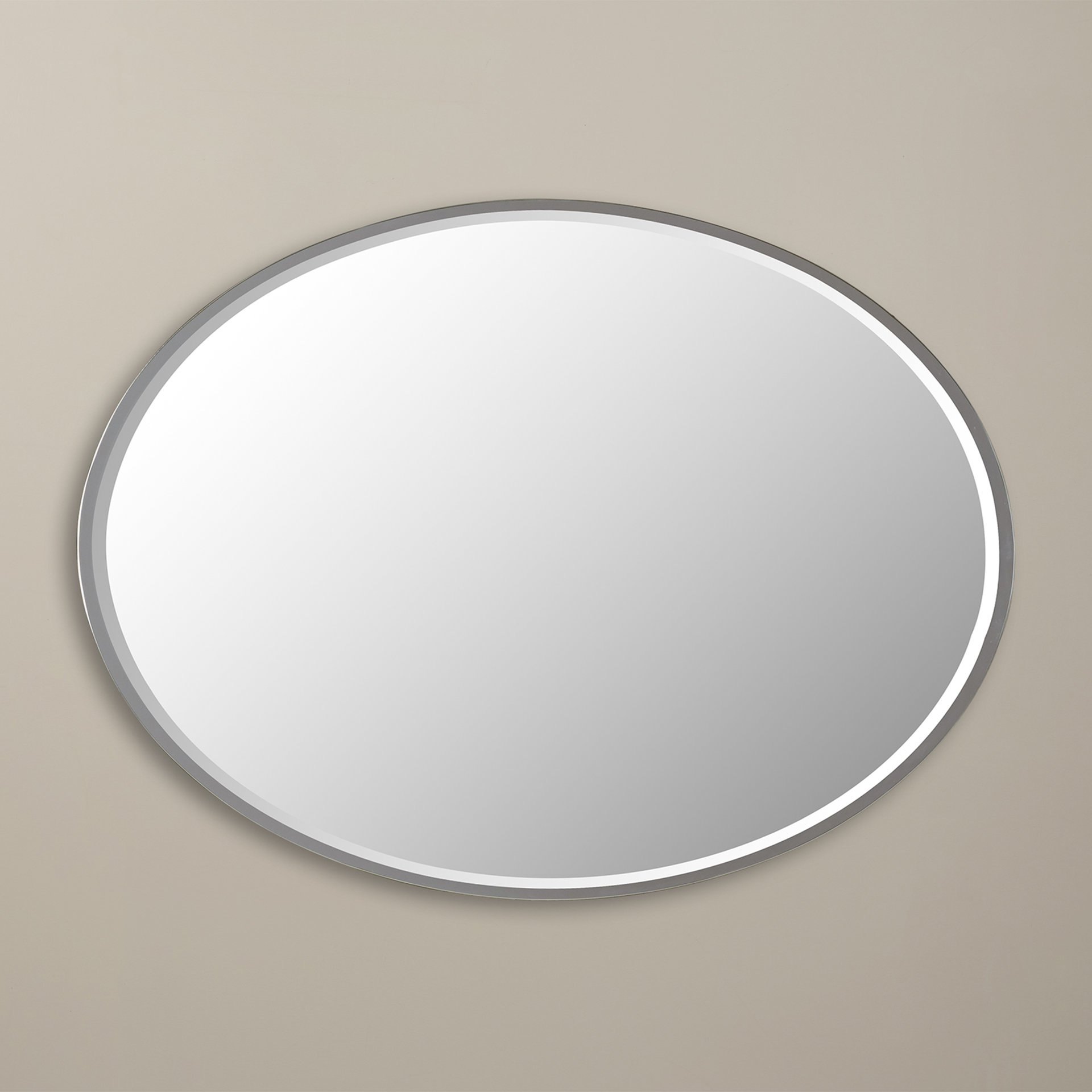Sajish Oval Crystal Wall Mirrors For Most Recent Tarek Oval Wall Mirror (View 7 of 20)