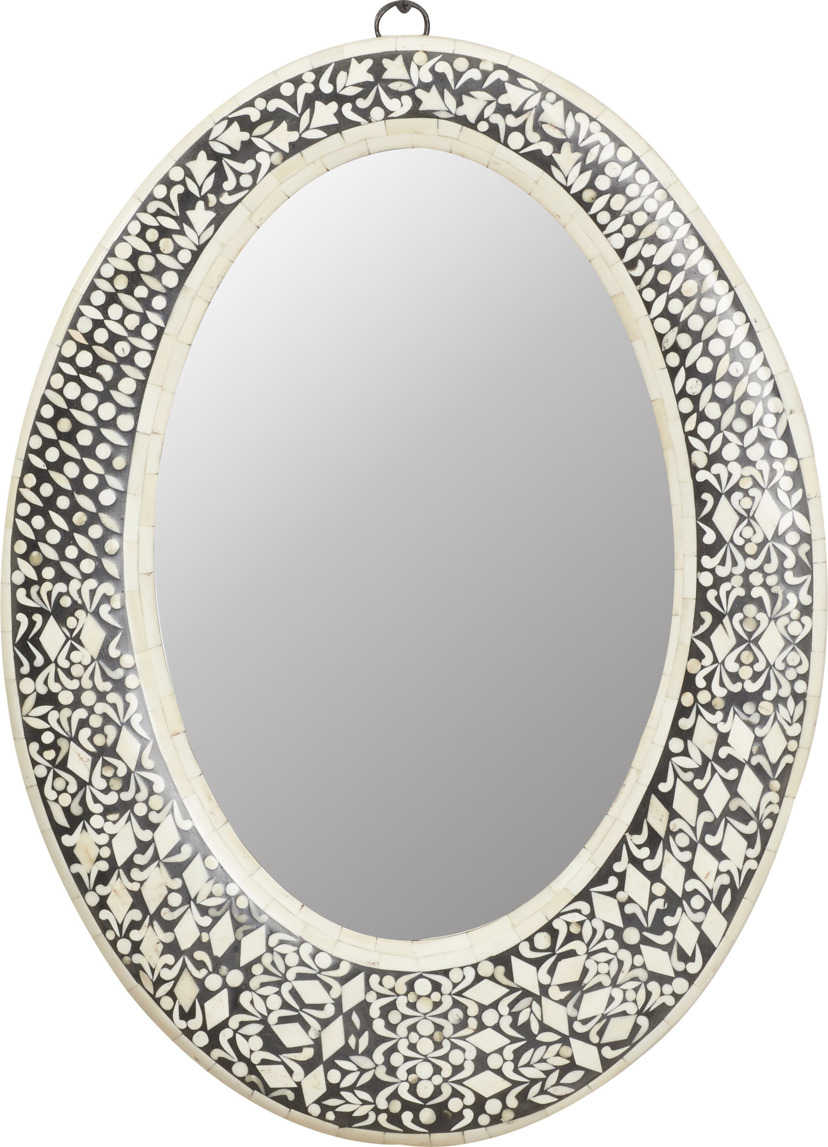 Sajish Oval Crystal Wall Mirrors Regarding Best And Newest Traditional Oval Wall Mirror (View 8 of 20)