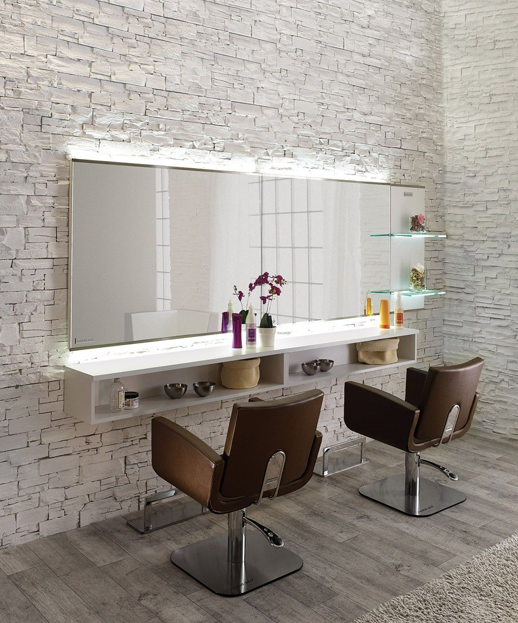 Salon Ambience Horizon Mirror Styling Station W/ Storage Throughout 2020 Salon Wall Mirrors (View 12 of 20)