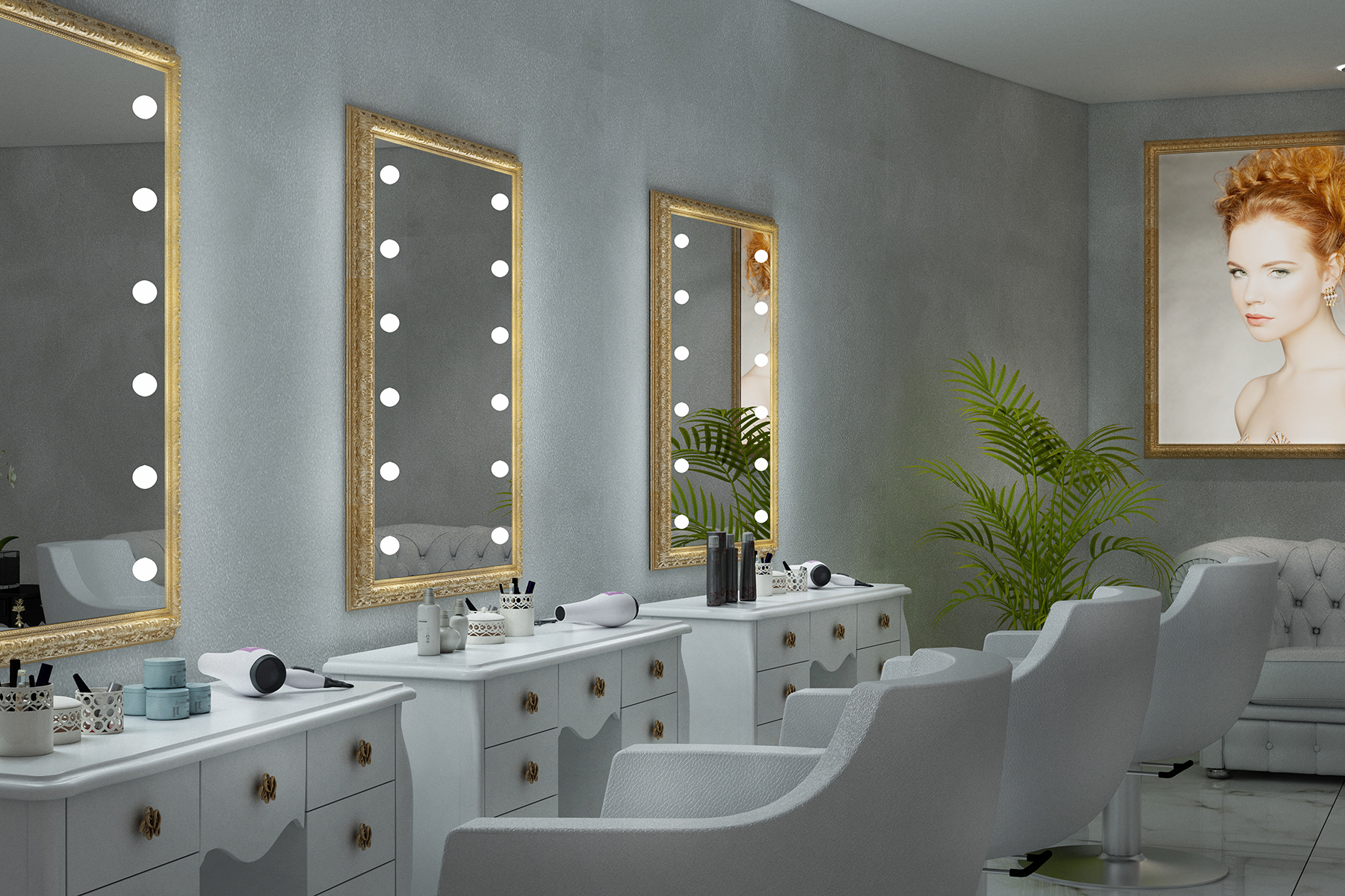 Salon Wall Mirrors For Well Known Salon Mirrors With Lightsunica Luxury Lighted Mirrors (View 1 of 20)