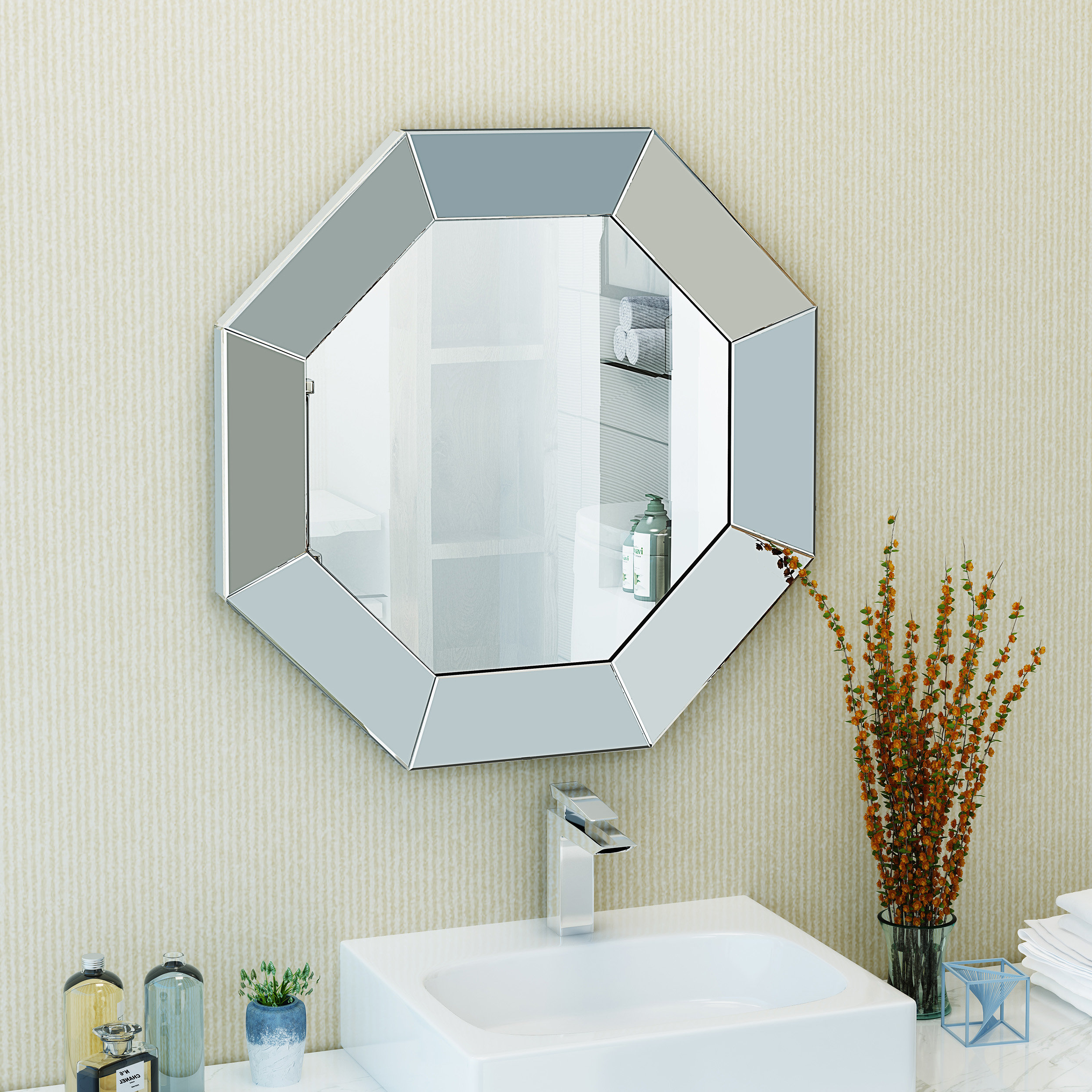 Samantha Octagonal Modern & Contemporary Accent Mirror Throughout Recent Trigg Accent Mirrors (View 18 of 20)