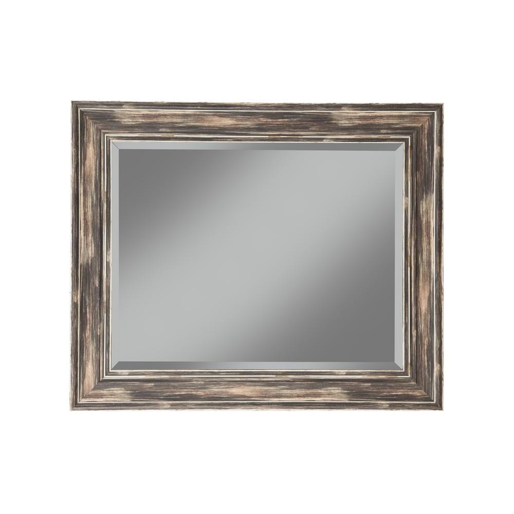 Sandberg Furniture Farmhouse Antique Black Decorative Wall Mirror In Preferred Decorative Black Wall Mirrors (View 19 of 20)