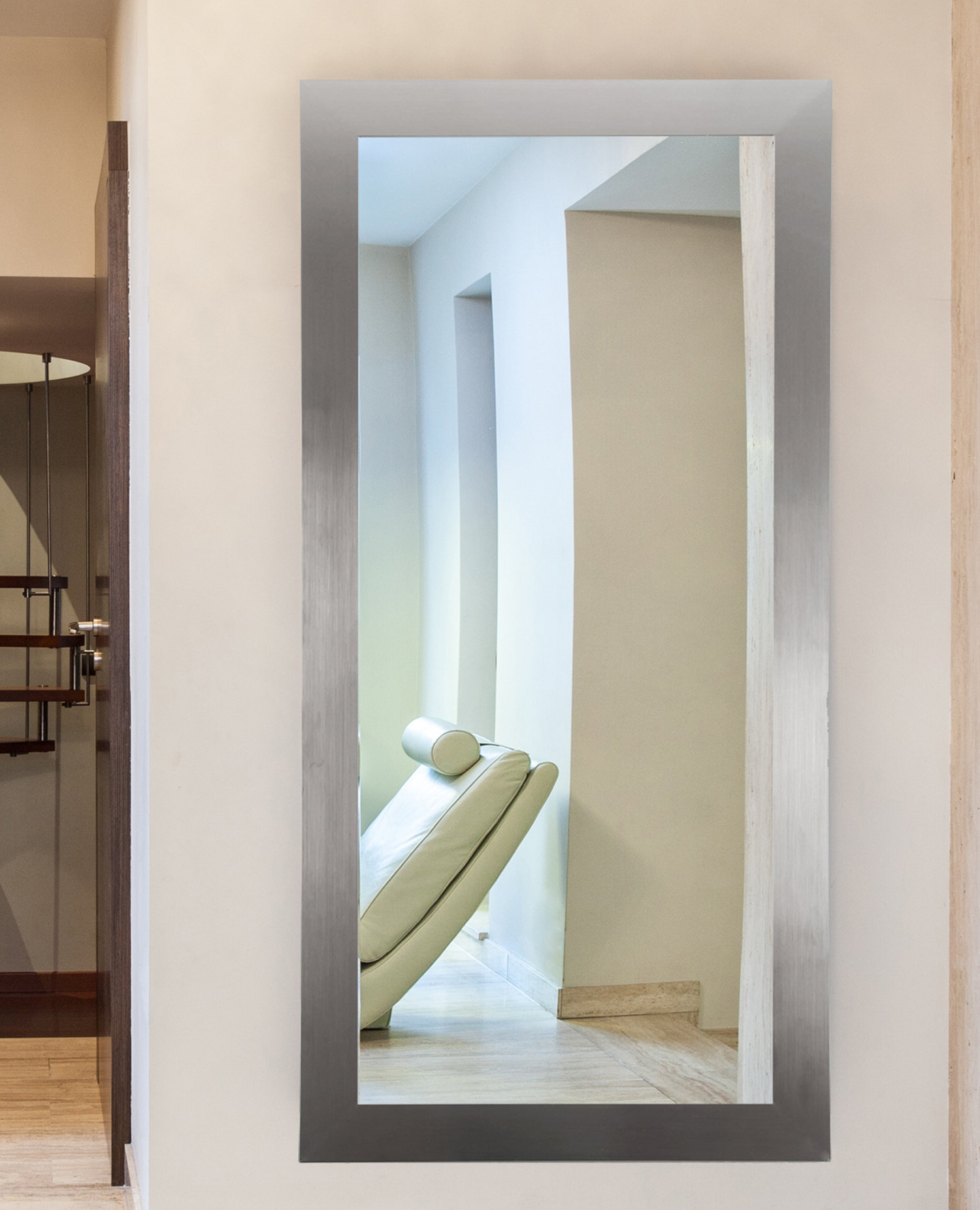 Sartain Modern & Contemporary Wall Mirror Intended For Recent Bathroom Full Wall Mirrors (View 20 of 20)