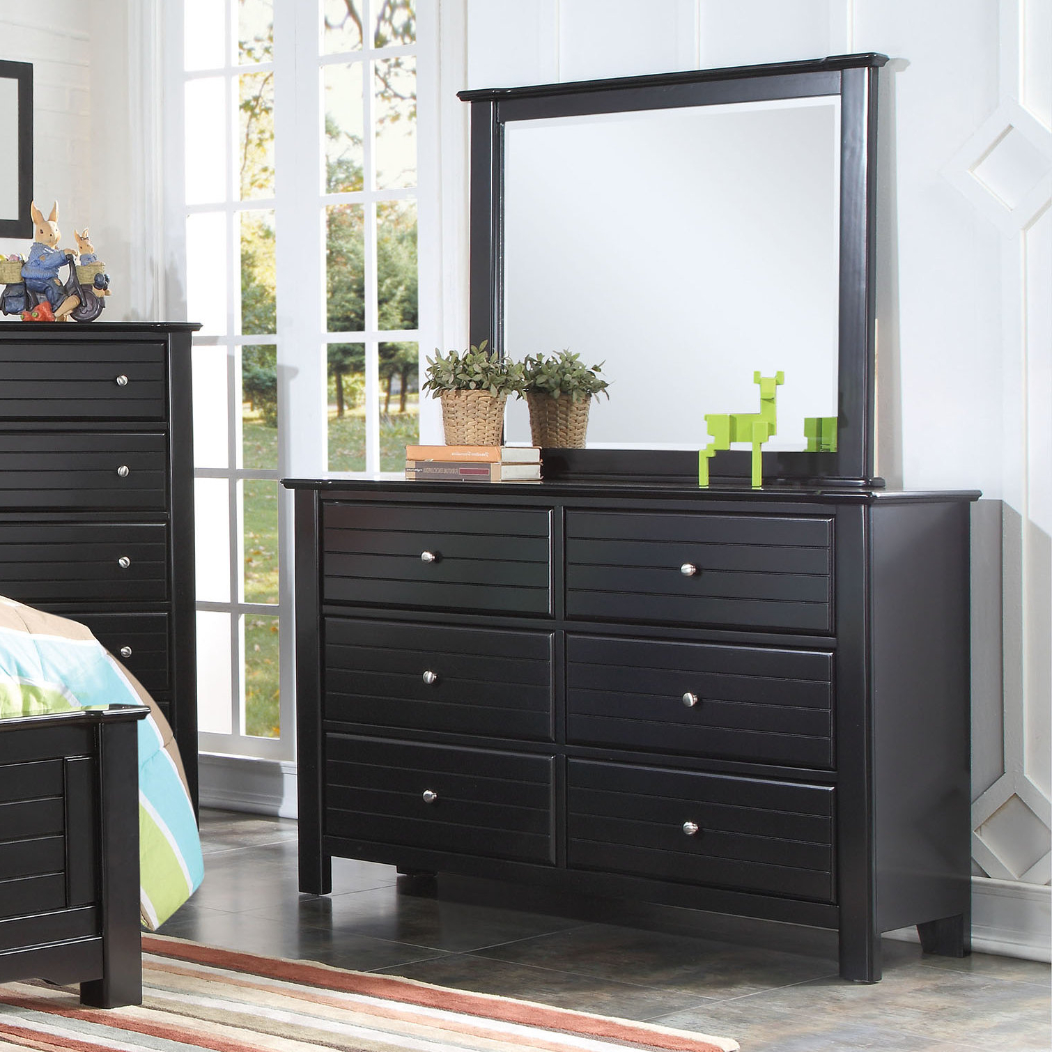 Saylor Wall Mirrors Intended For Most Current Saylor 6 Drawer Double Dresser With Mirror (View 20 of 20)