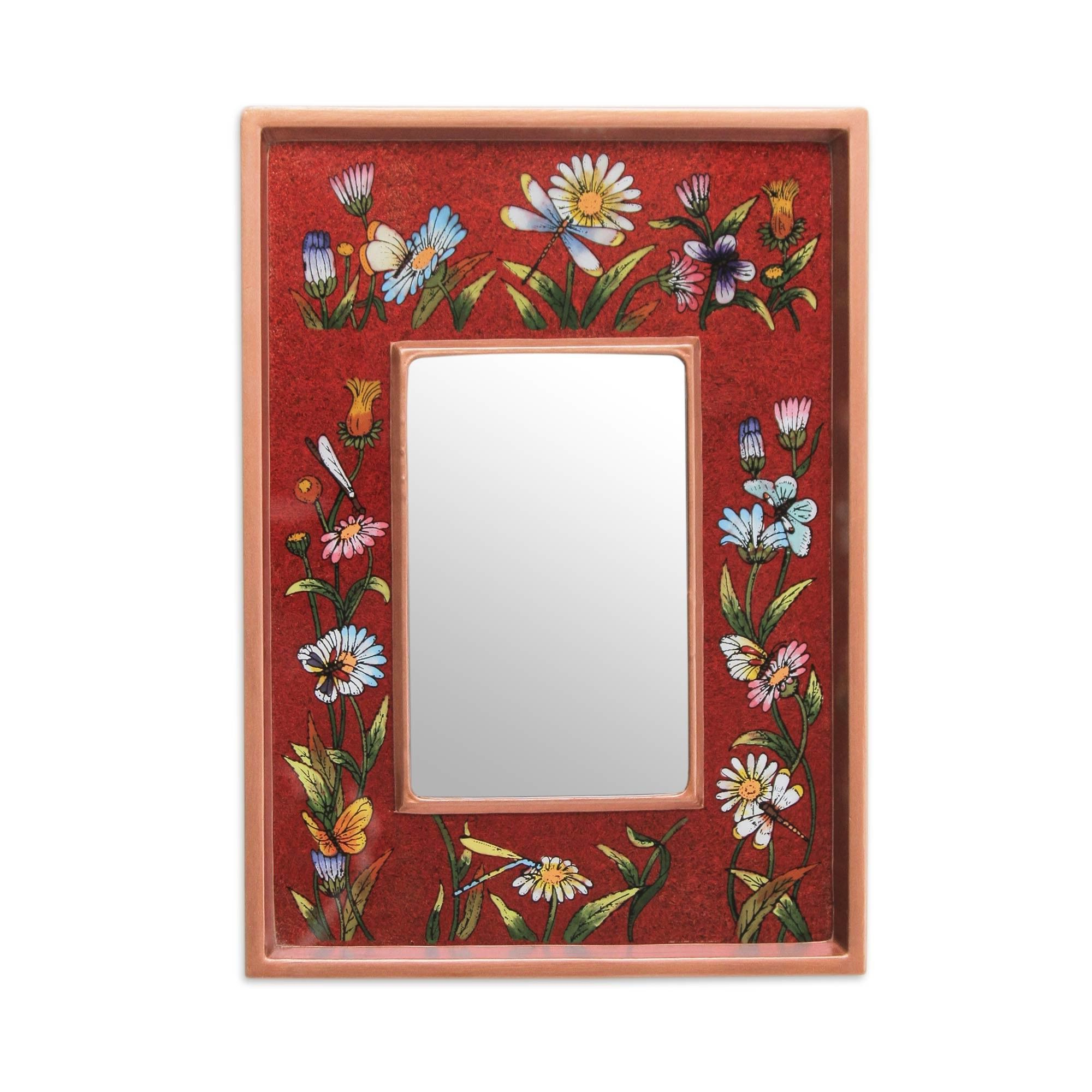 Scarlet Fields Modern Andean Hand Painted Modern & Contemporary Wall Within Preferred Hand Painted Wall Mirrors (View 19 of 20)