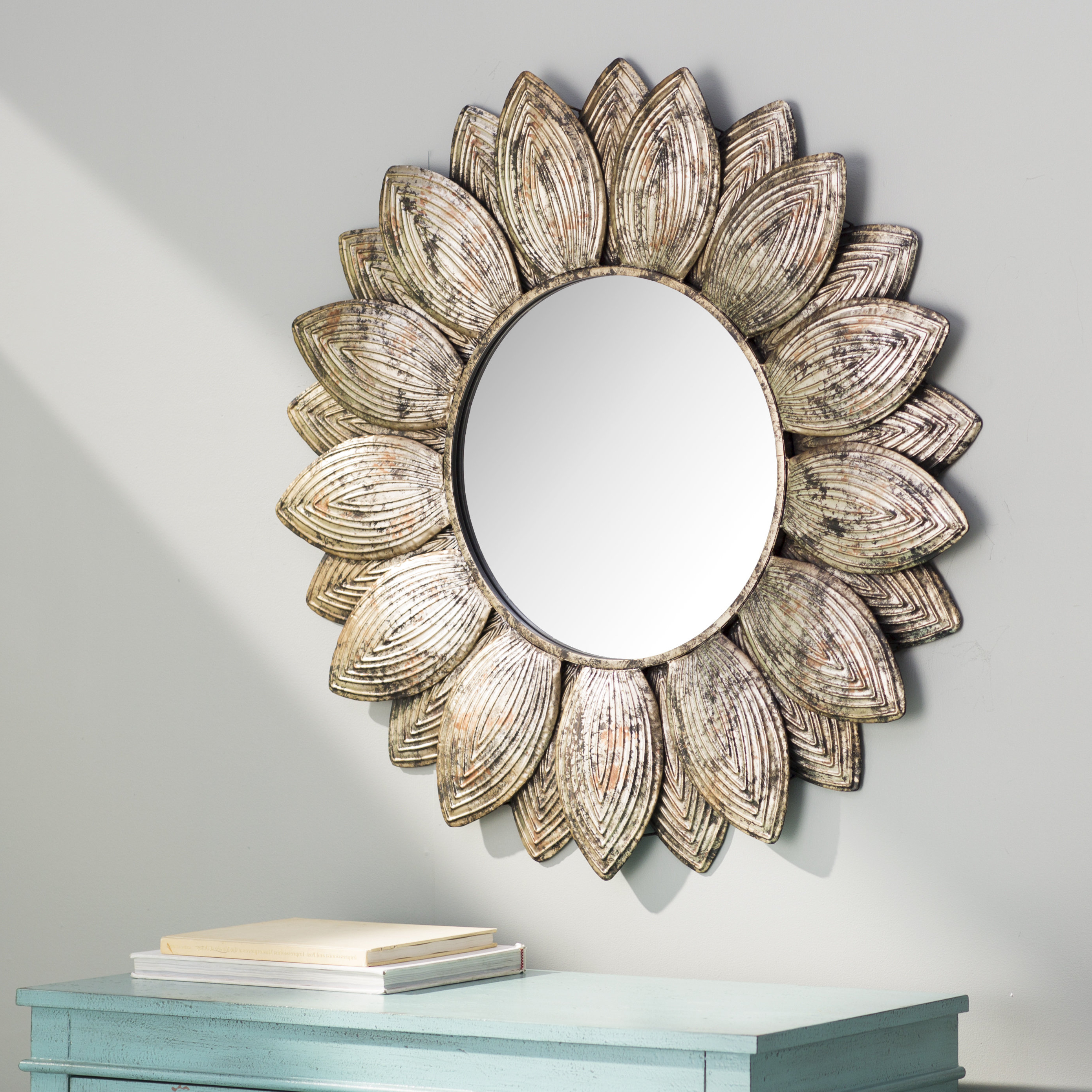 Seema Eclectic Beveled Wall Mirror With Regard To Most Popular Round Eclectic Accent Mirrors (View 14 of 20)