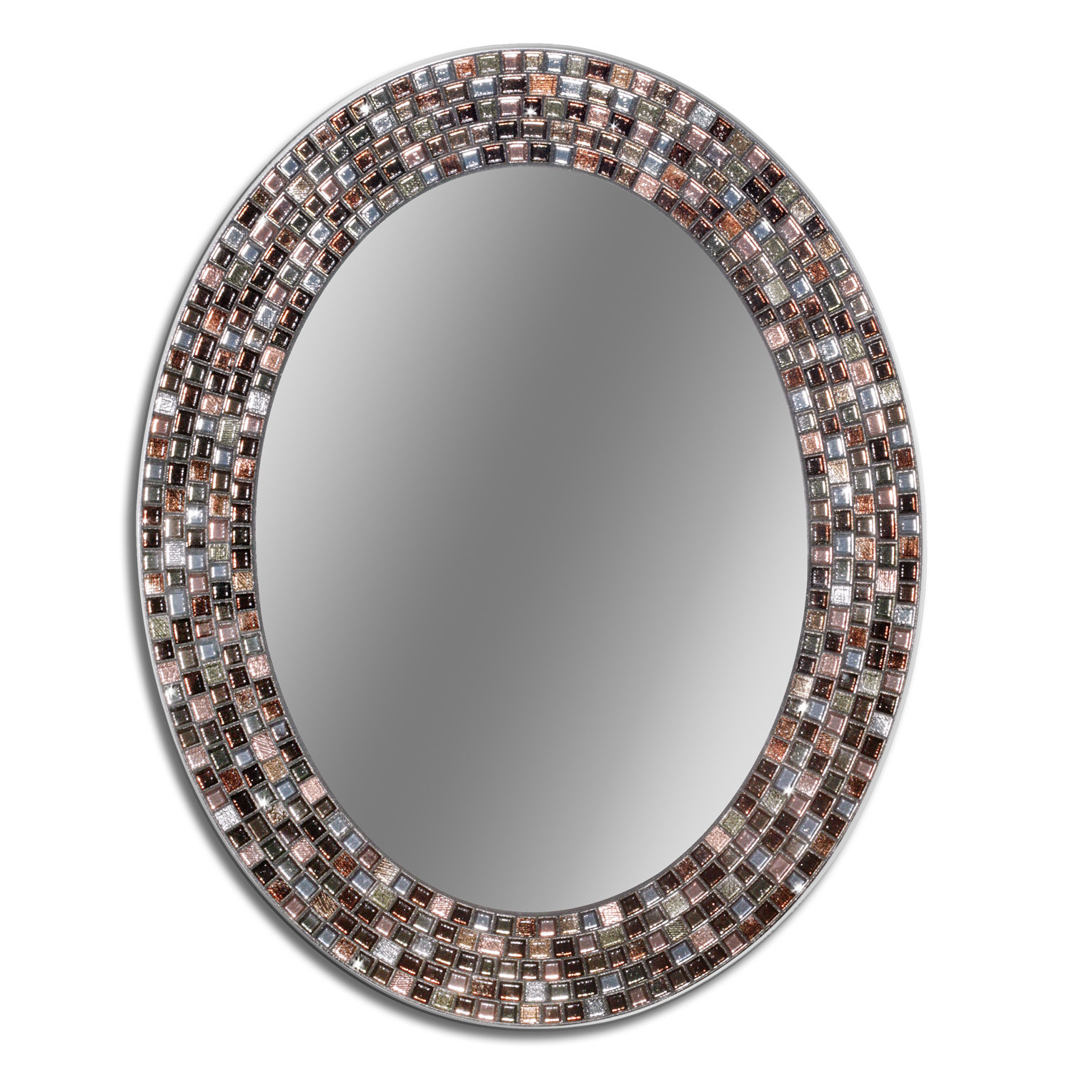 Selden Frameless Oval Mosaic Wall Mirror With Most Recent Mosaic Wall Mirrors (View 8 of 20)