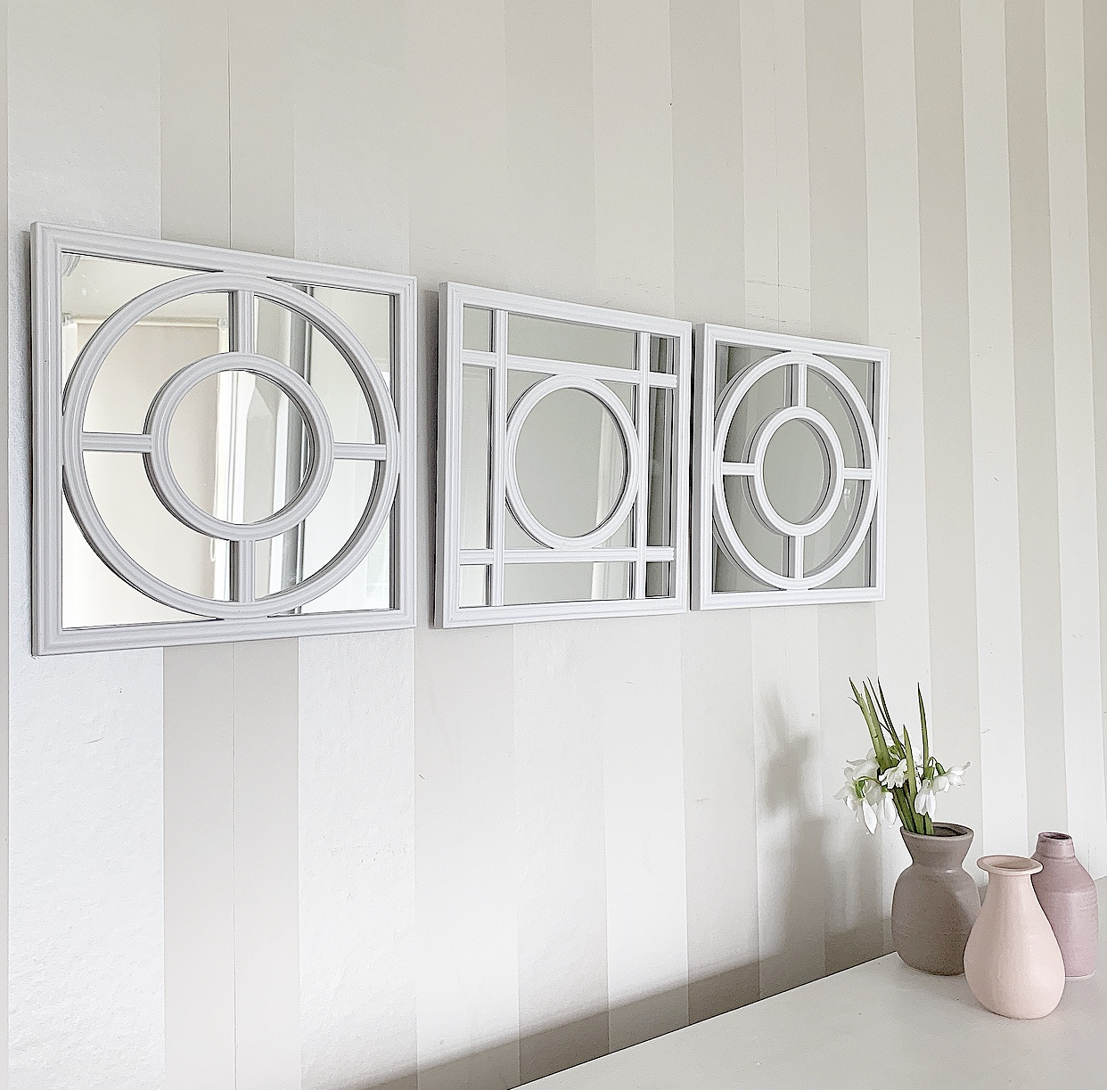 Set Of 3 Wall Mirrors Intended For Latest Stunning Ornate Wall Mirror Panels…set Of  (View 12 of 20)