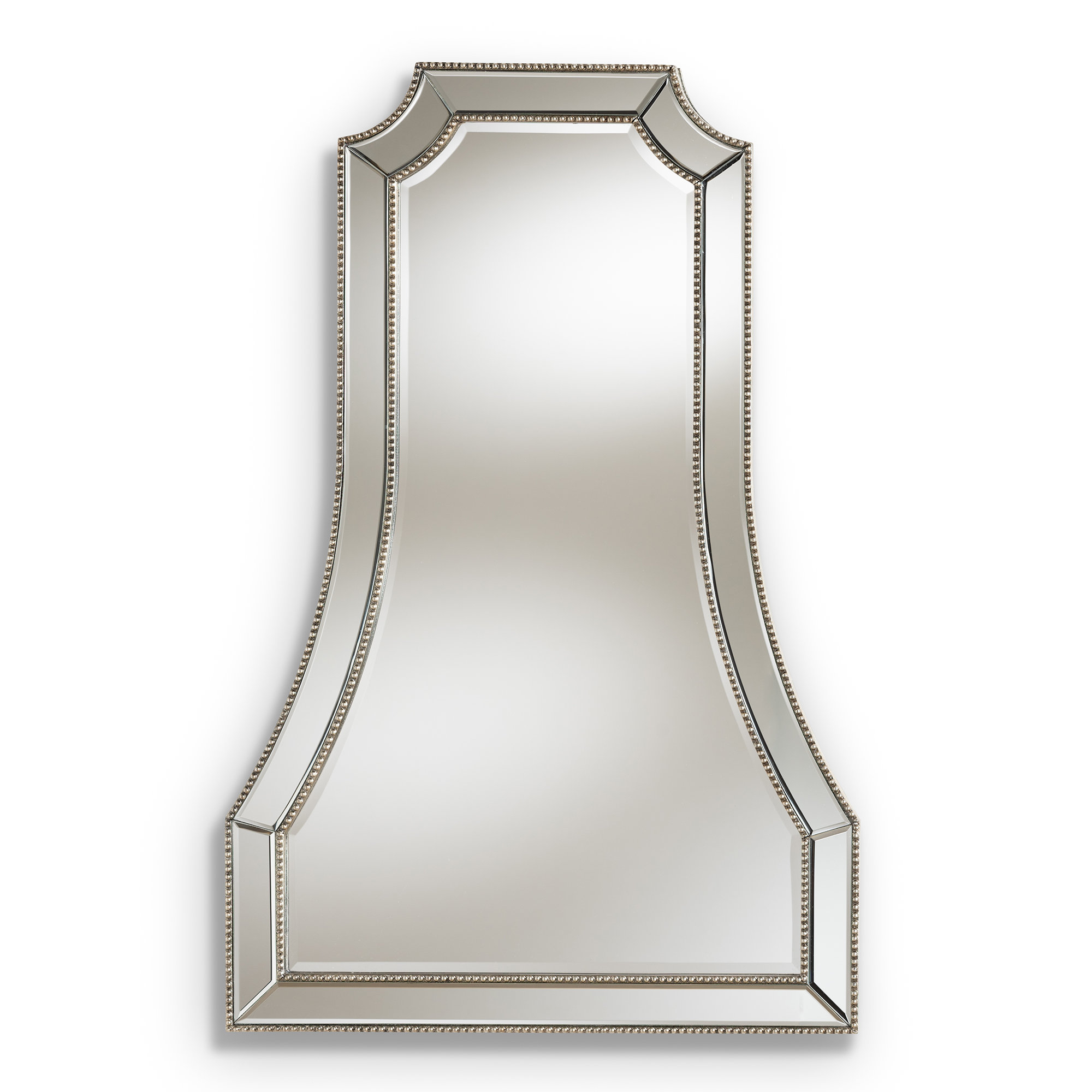 Shawnta Beveled Wall Mirror Pertaining To Well Known Estefania Frameless Wall Mirrors (View 16 of 20)