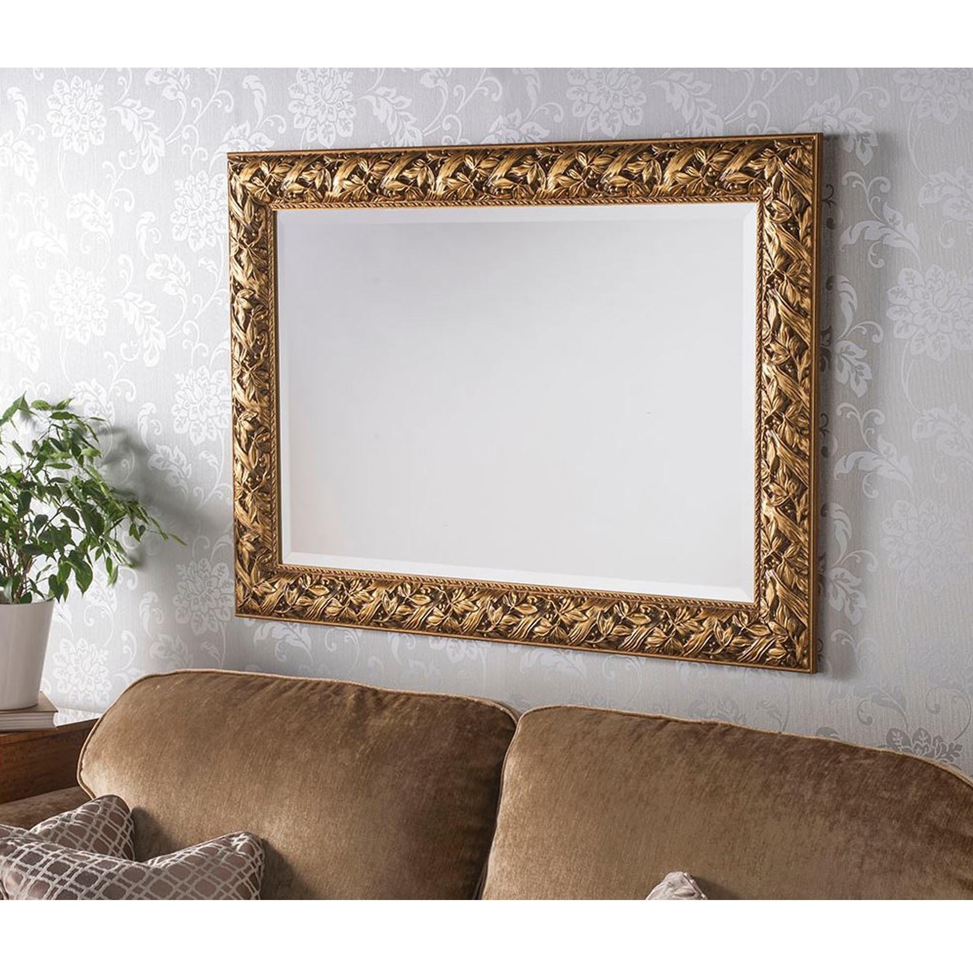 Sherwood Decorative Gold Wall Mirror For Most Current Beautiful Wall Mirrors (View 3 of 20)