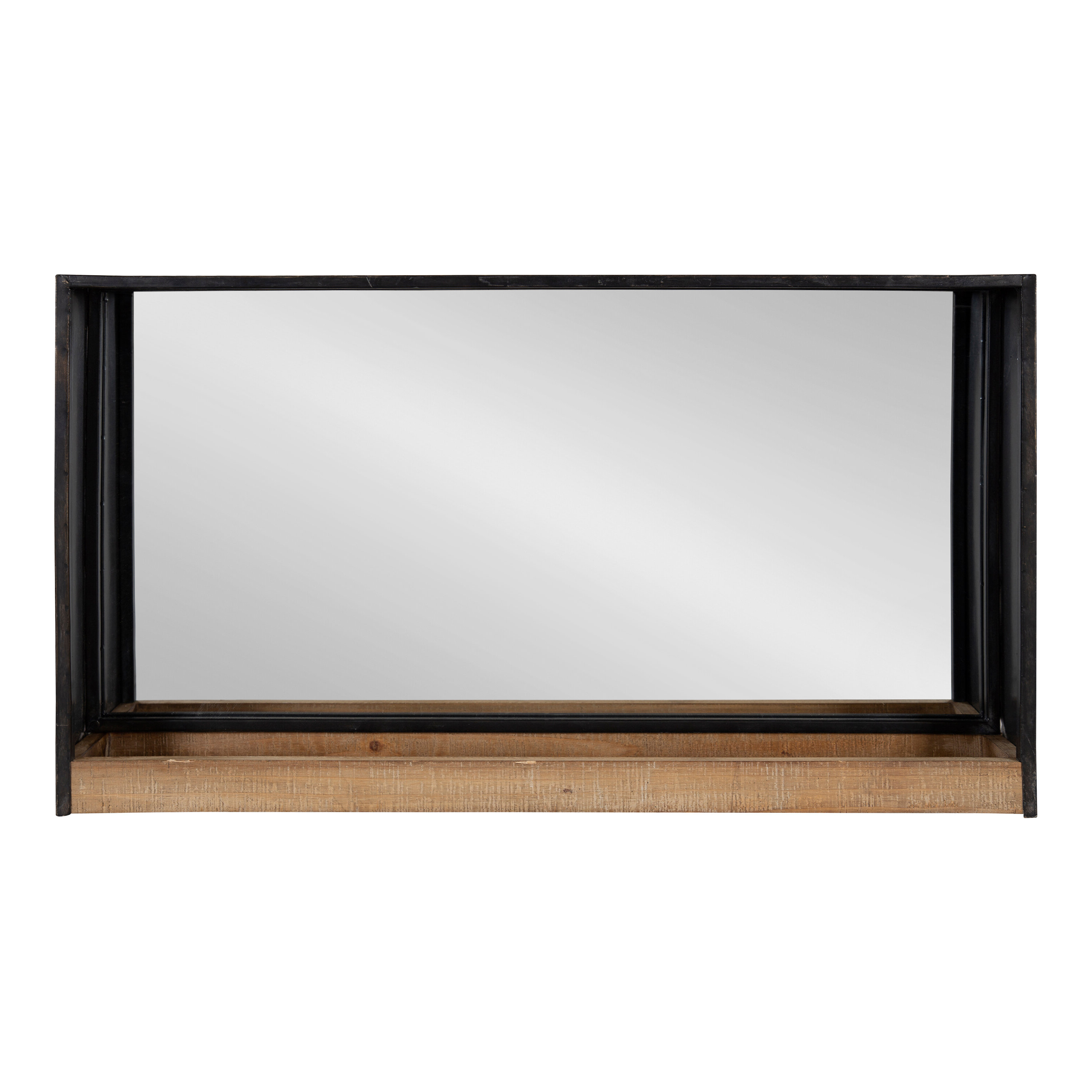 Shildon Beveled Accent Mirrors In Preferred Coelho Casual Modern Beveled With Shelf Accent Mirror (View 14 of 20)