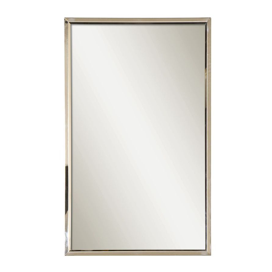 Shop Global Direct 18 In X 30 In Polished Stainless Steel With 2019 Lugo Rectangle Accent Mirrors (View 6 of 20)