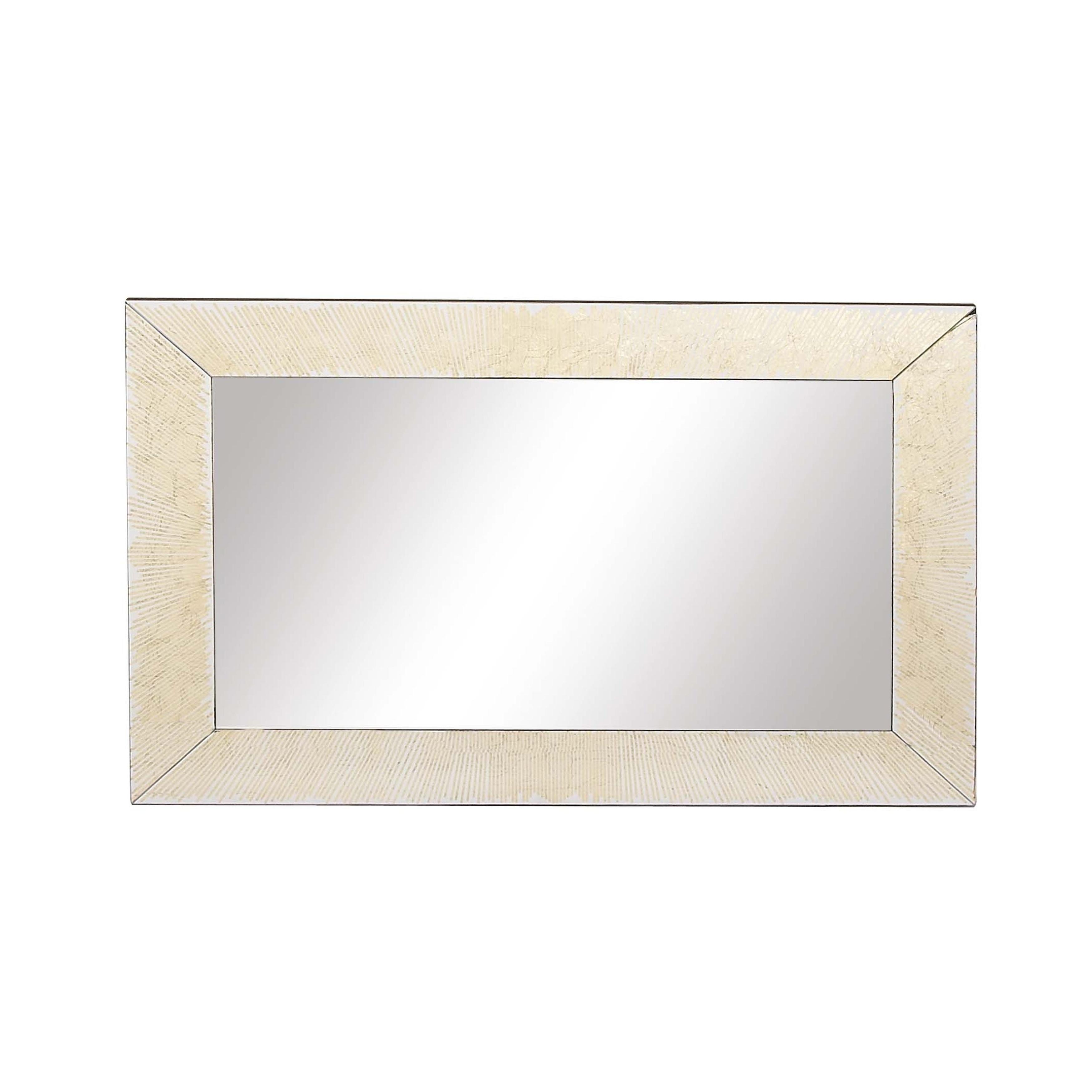 Shop Modern Wood Rectangular Framed Wall Mirror – Gold In Favorite Gold Framed Wall Mirrors (View 13 of 20)
