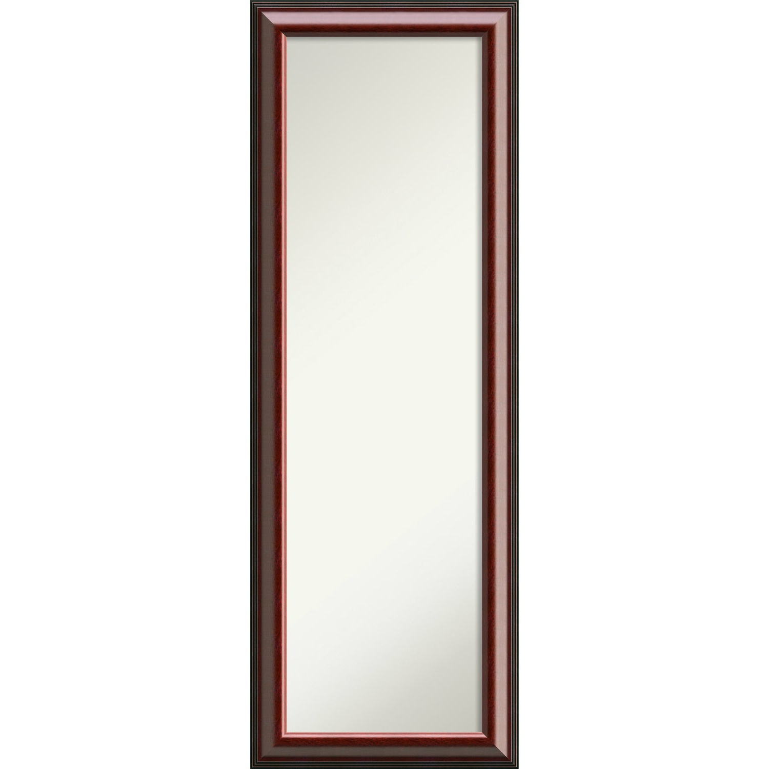 Shop On The Door Full Length Wall Mirror, Cambridge Mahogany 19 X 53 With Preferred Cheap Full Length Wall Mirrors (View 18 of 20)