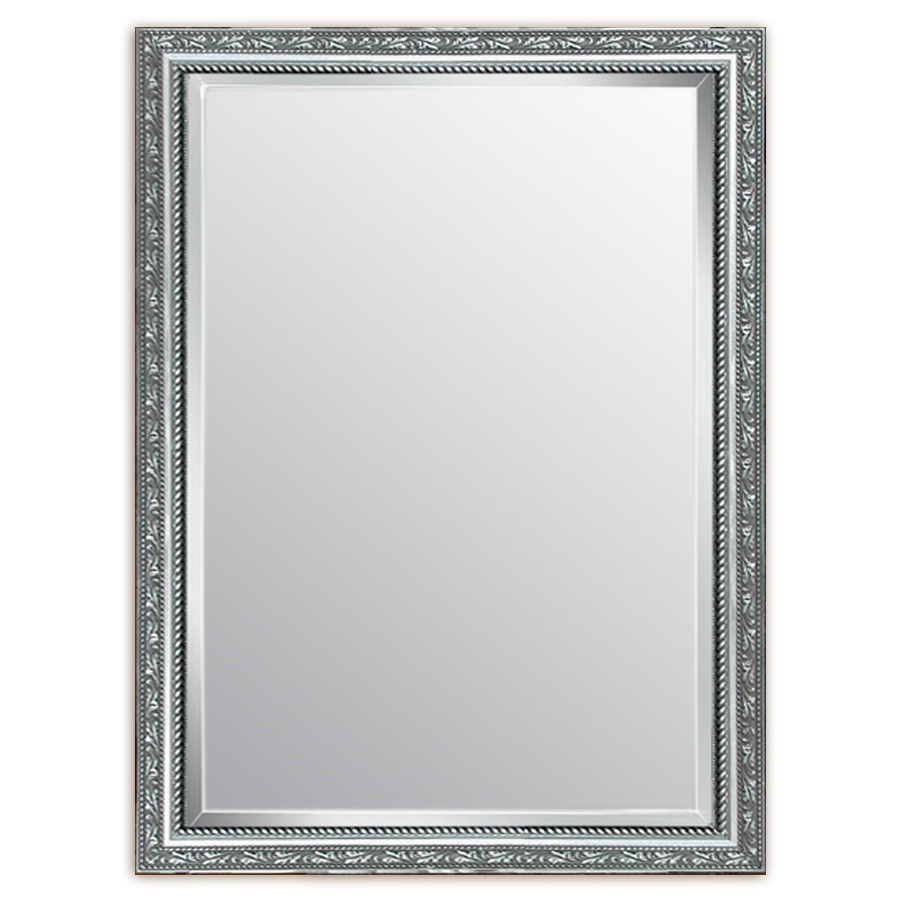 Shop Style Selections Silver Beveled Wall Mirror At Lowescom Inside Most Popular Silver Framed Wall Mirrors (View 15 of 20)