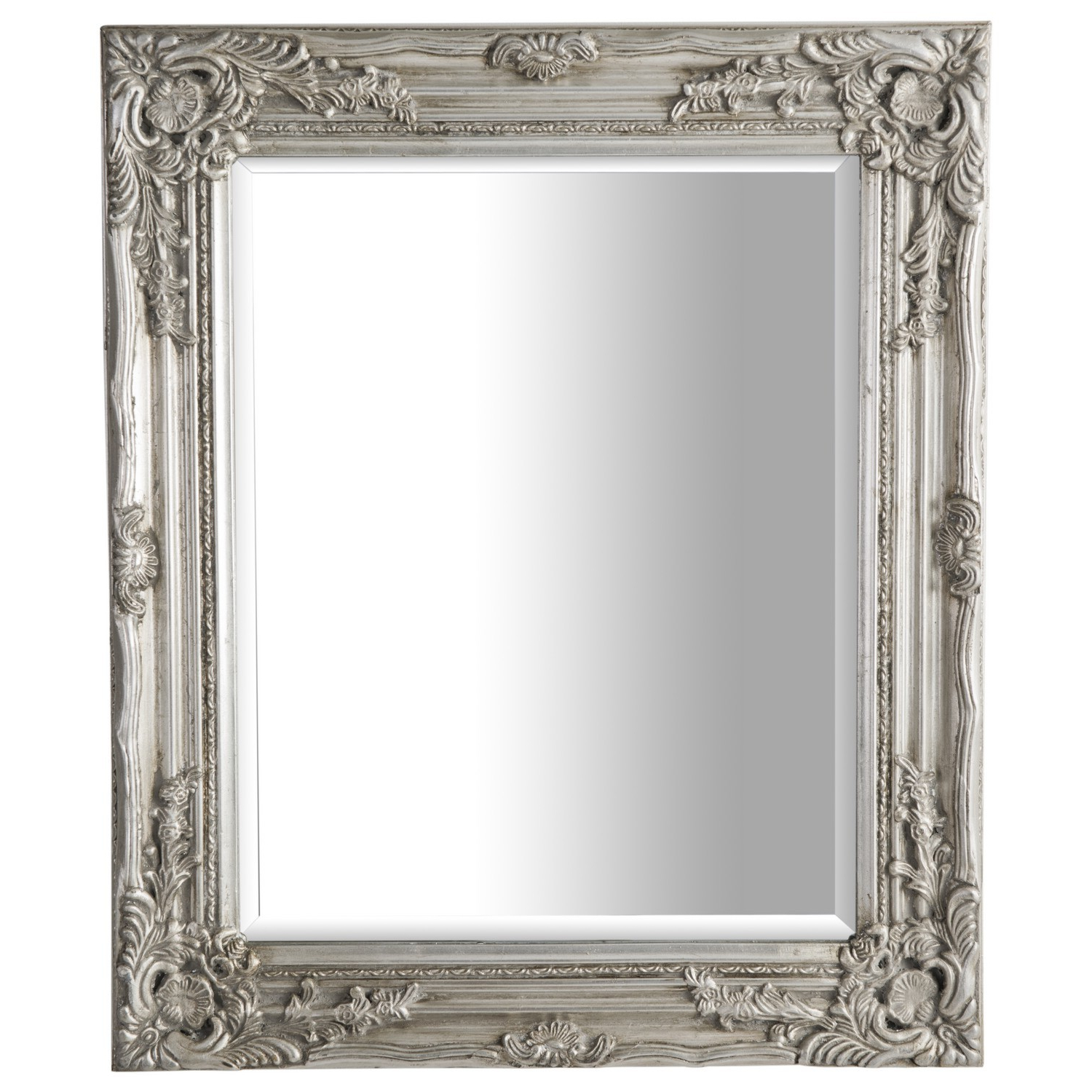 Silver Antique Ornate Mirror Intended For Famous Large Ornate Wall Mirrors (View 7 of 20)
