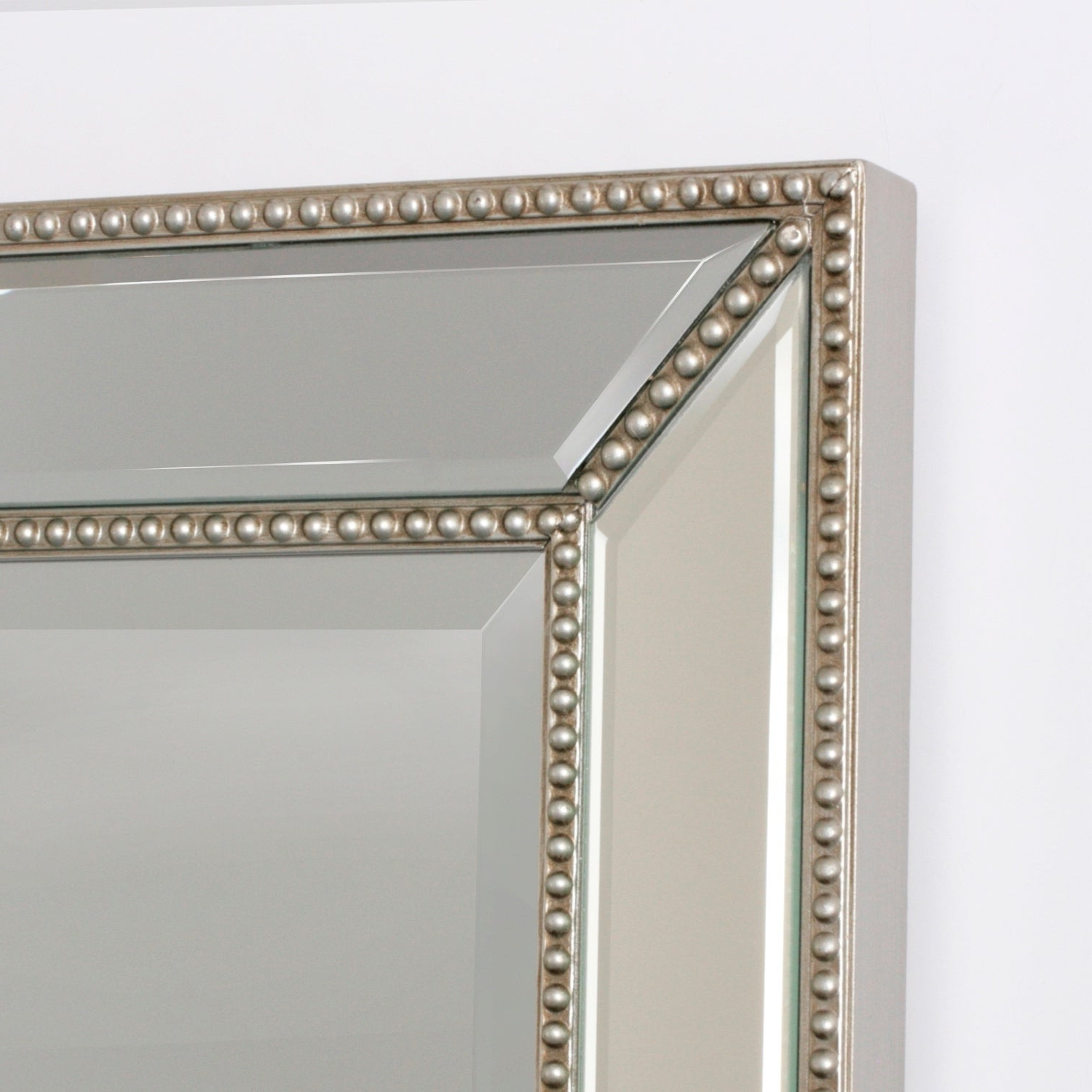 Silver Beaded Wall Mirrors Pertaining To Most Popular Headwest Metro Beaded Wall Mirror – Silver/champagne – 20X 32 (Gallery 15 of 20)
