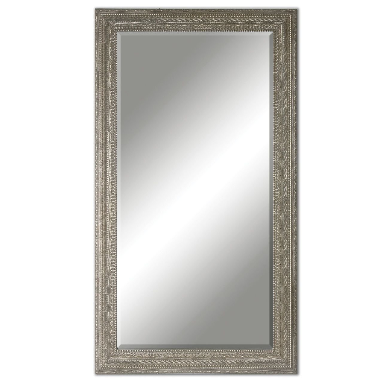 Silver Beaded Wall Mirrors Pertaining To Well Known Intelligent Design Full Length Silver Beaded Frame Mirror (Gallery 19 of 20)