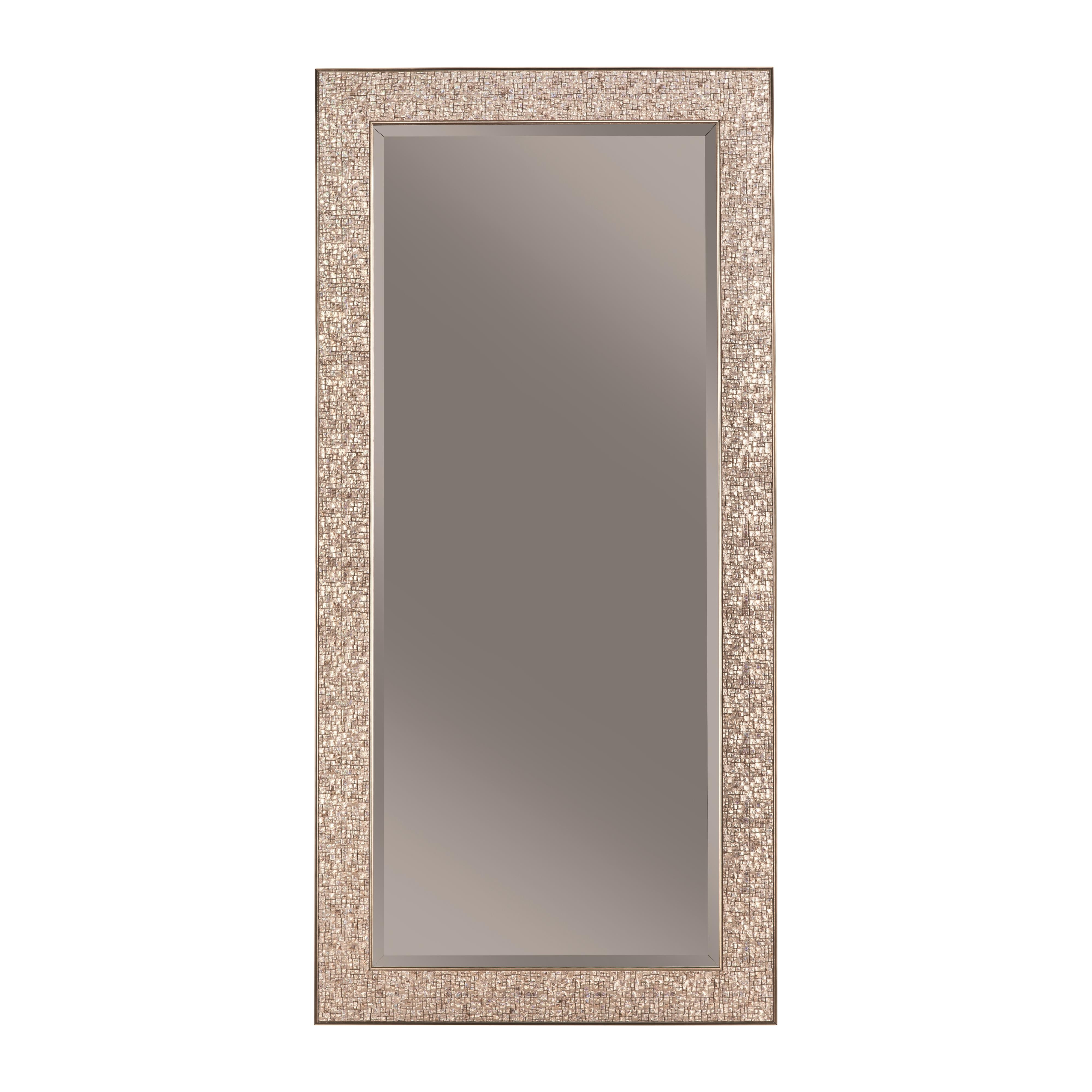 Silver Frame Accent Mirrors Pertaining To Newest Coaster 901997 Accent Mirrors Accent Mirror With Colored Mosaic (View 7 of 20)