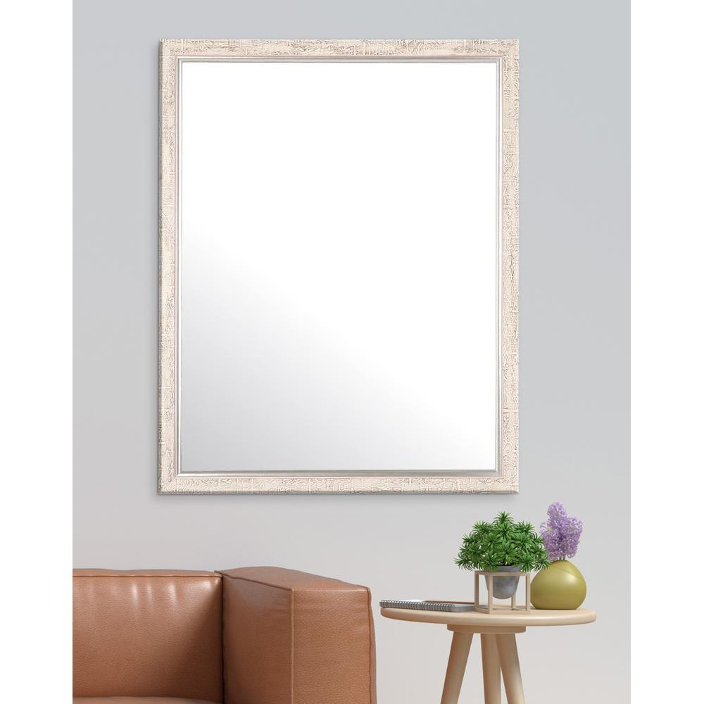 Silver Frame Accent Mirrors Pertaining To Recent 30 In. X 36.5 In (View 15 of 20)