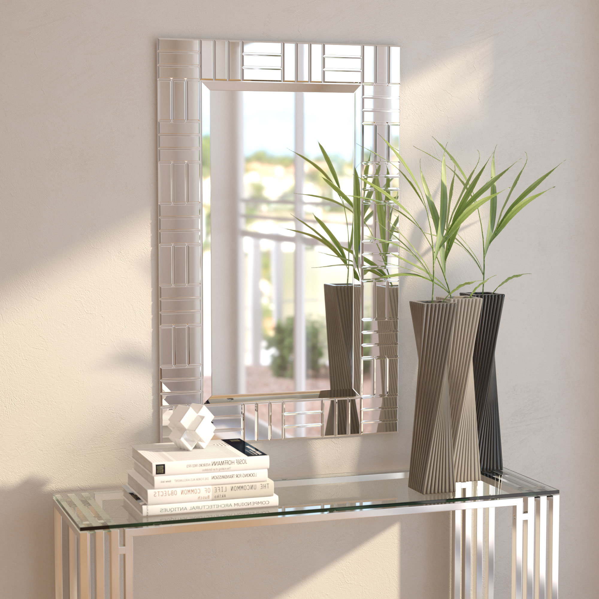 Silver Frame Accent Mirrors Regarding Preferred Silver Frame Accent Mirror (View 3 of 20)
