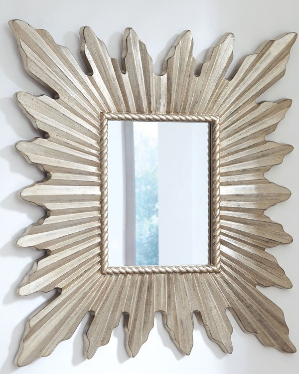 Silver Frame Accent Mirrors Throughout Fashionable Antonia – Antique Silver Finish – Accent Mirror (View 14 of 20)