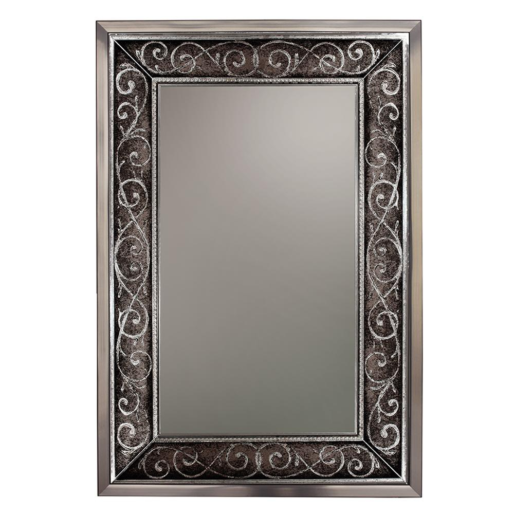 Silver Wall Mirrors With Regard To Most Up To Date Deco Mirror 25 In. W X 37 In (View 17 of 20)