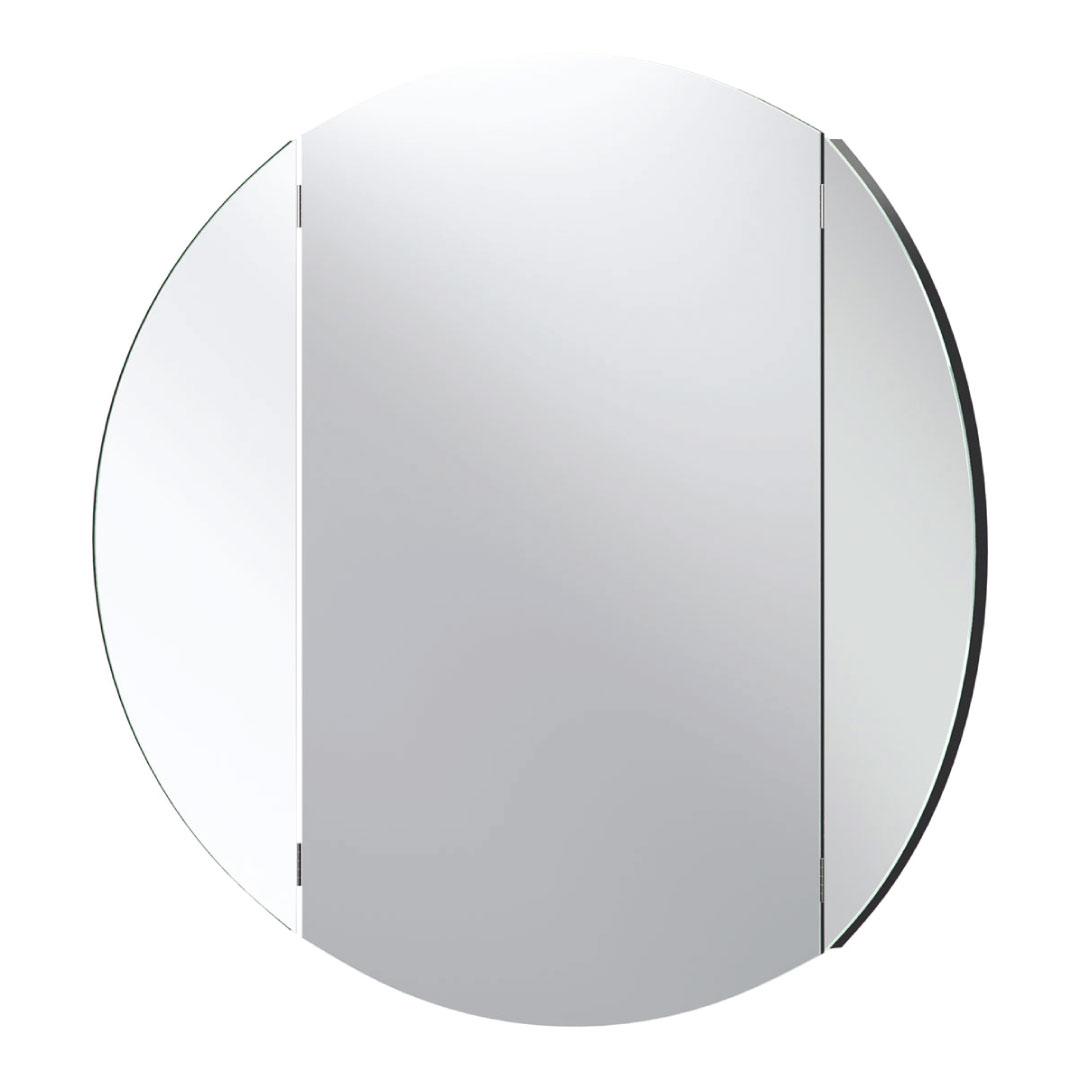 Simple Round Wall Mirror – Black Regarding Popular Black Round Wall Mirrors (View 18 of 20)