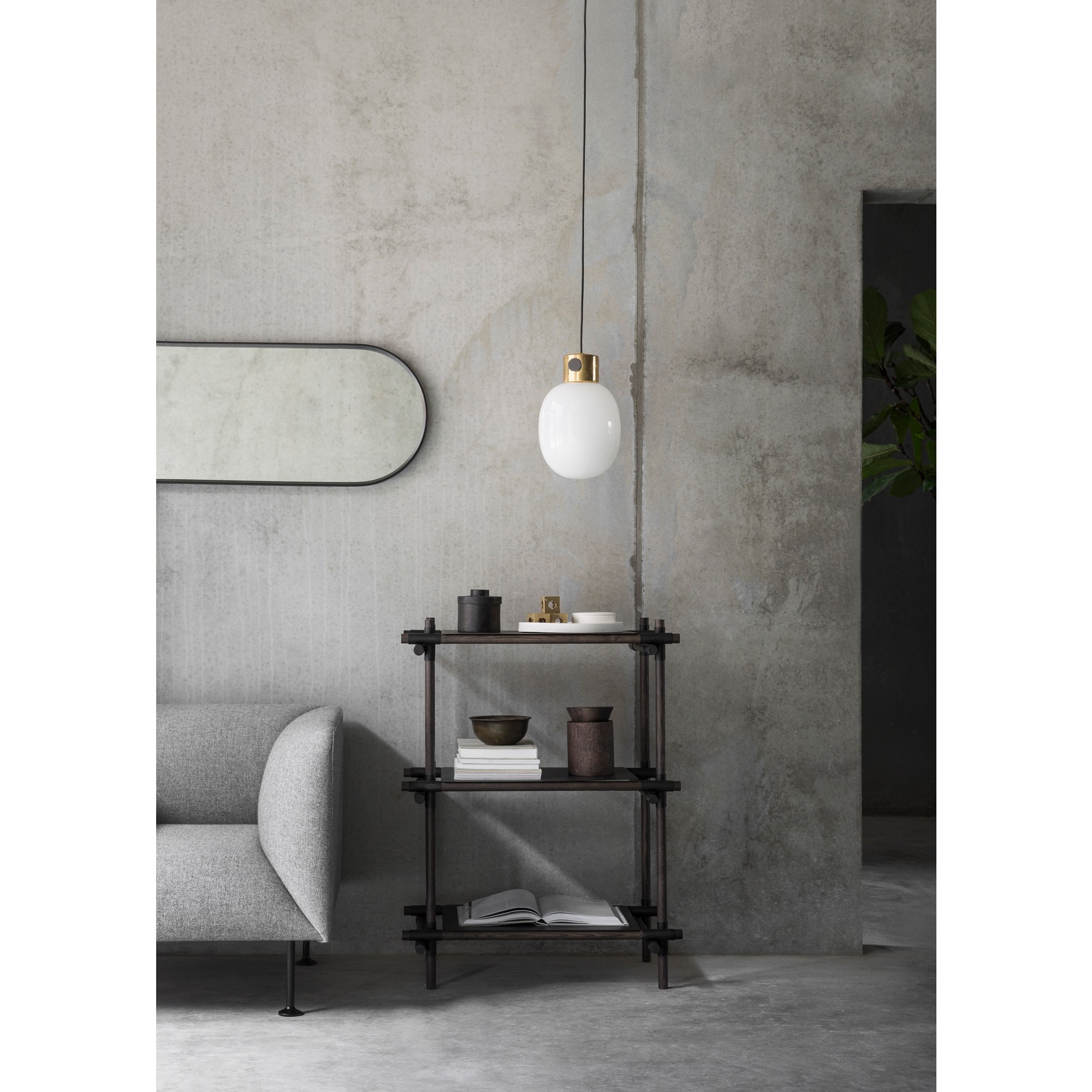 Skandium Within Black Oval Wall Mirrors (View 16 of 20)
