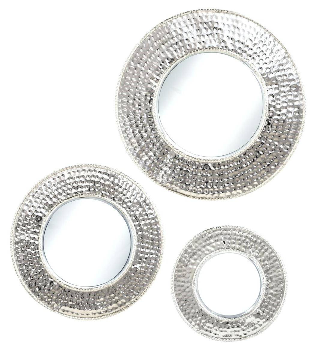 Small Decorative Wall Mirror Sets Within 2019 Set Of 3 Mirrors – Lajmisot (View 17 of 20)