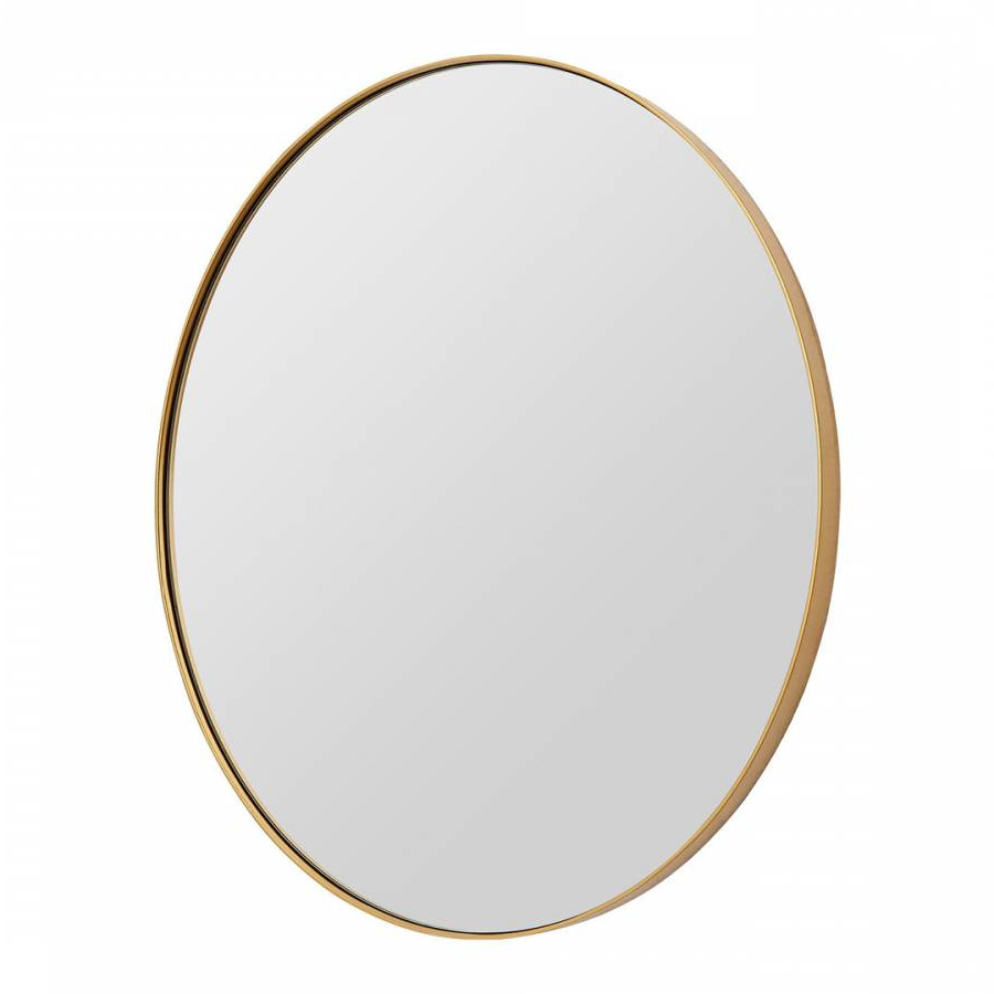 Small Gold Wall Mirrors Inside Most Recently Released Small Gold Finish Oval Wall Mirror 40X30Cm – Brandalley (Gallery 19 of 20)
