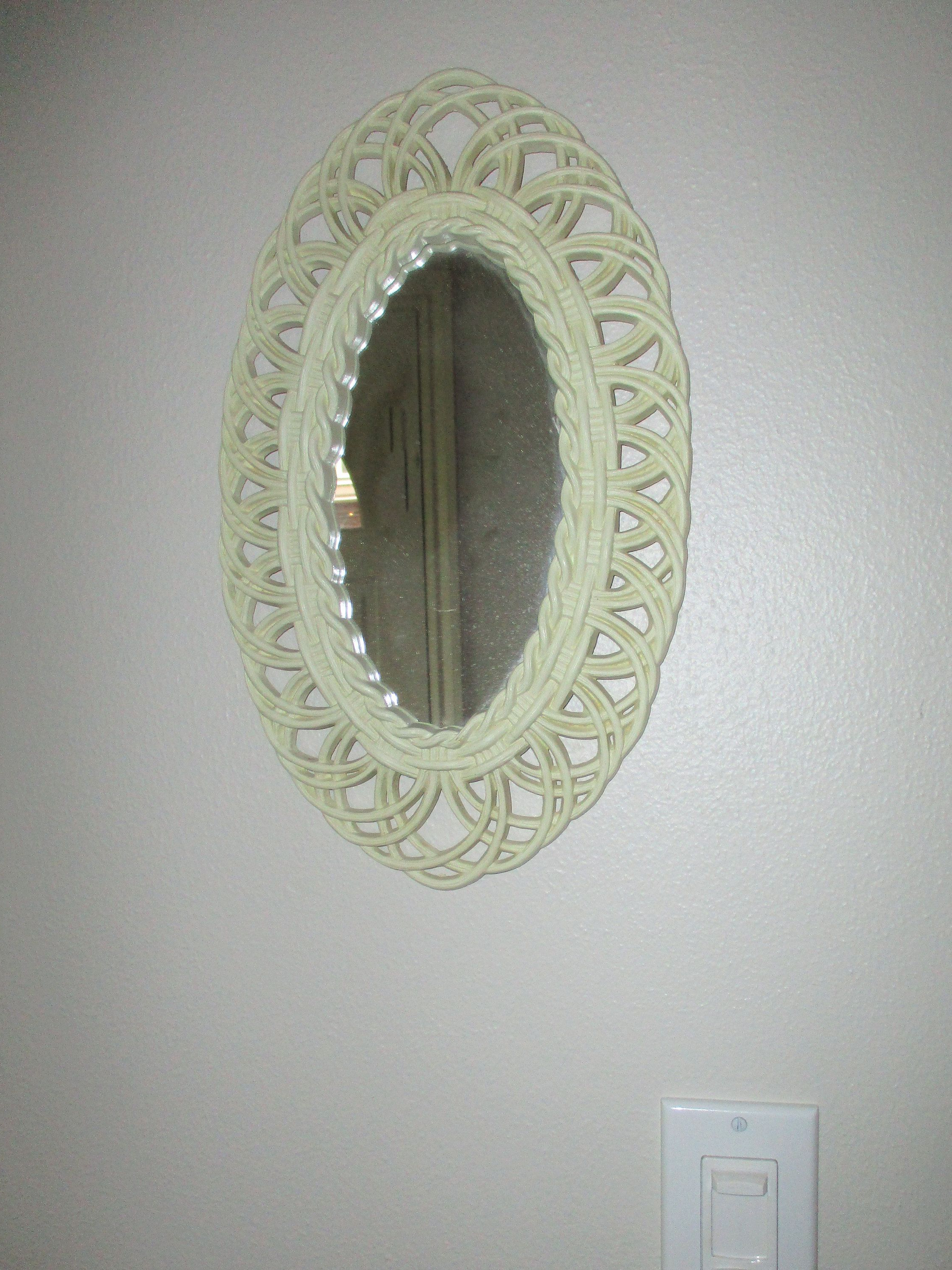 Small Oval Wall Mirrors Throughout Widely Used 1960S Oval Mirror, White Fancy Filagree Burwood Wall Mirror, Small (View 18 of 20)