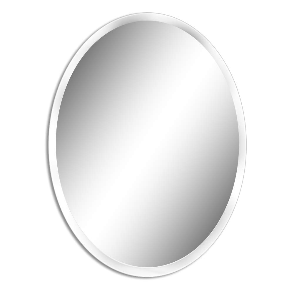 Small Oval Wall Mirrors With Regard To Well Known Beauty4U Small Oval Frameless Mirrors – 19.7 X  (View 20 of 20)