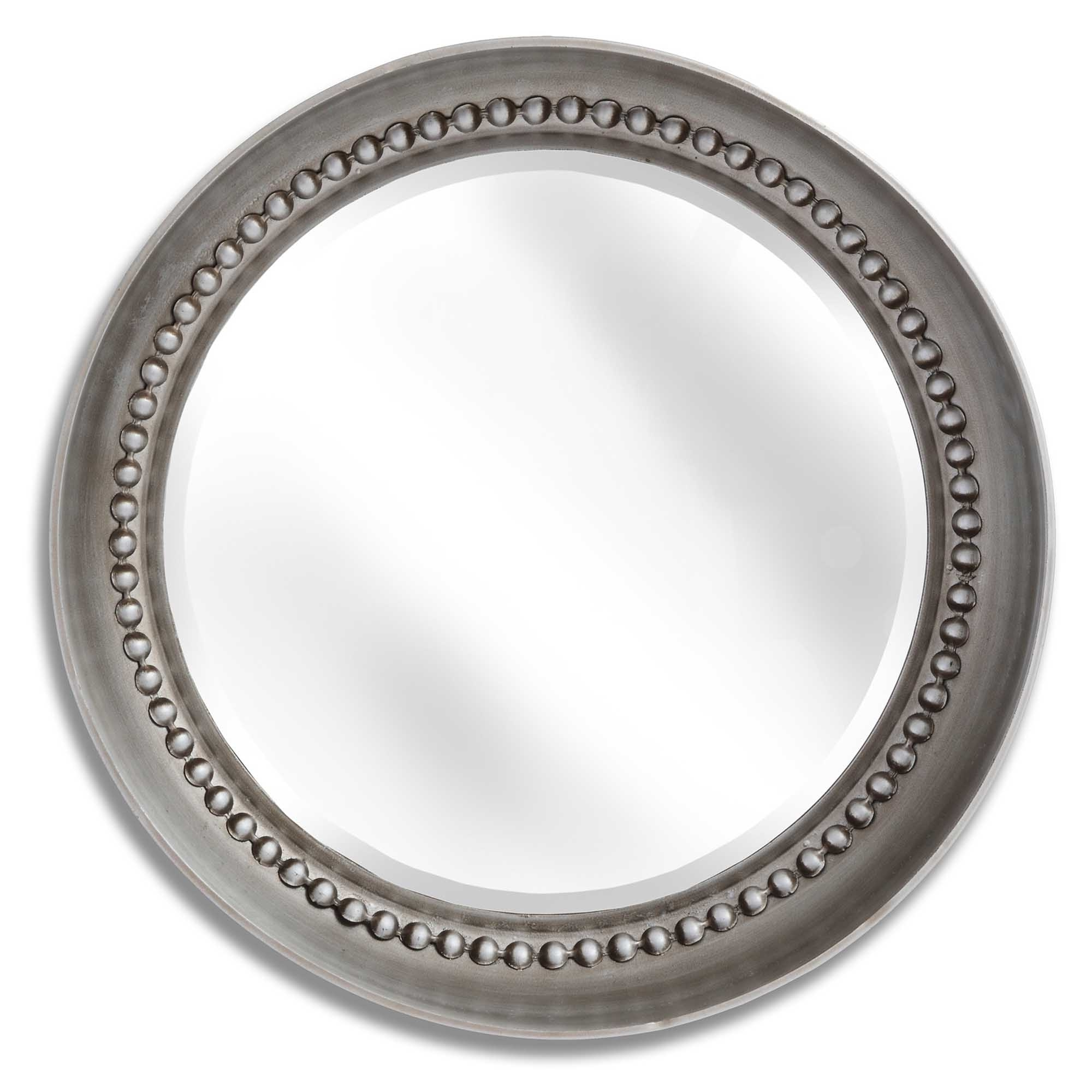 Small Silver Beaded Dish Wall Mirror With Most Recently Released Silver Beaded Wall Mirrors (Gallery 16 of 20)