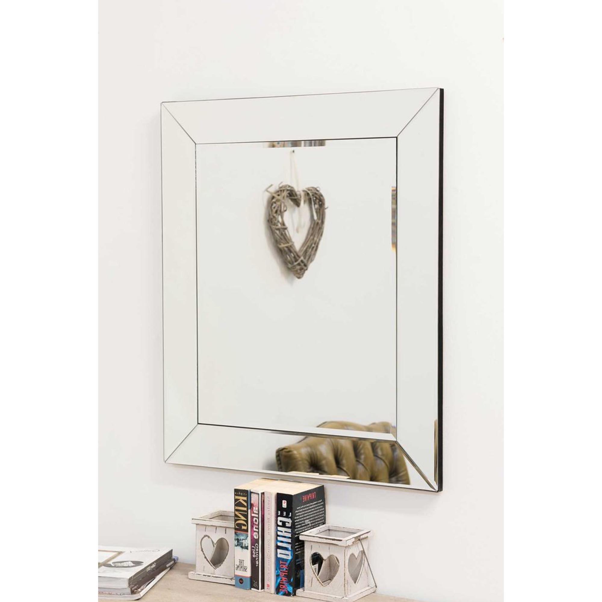 Small Venetian Frameless Wall Mirror For Well Known Frameless Wall Mirrors (View 17 of 20)