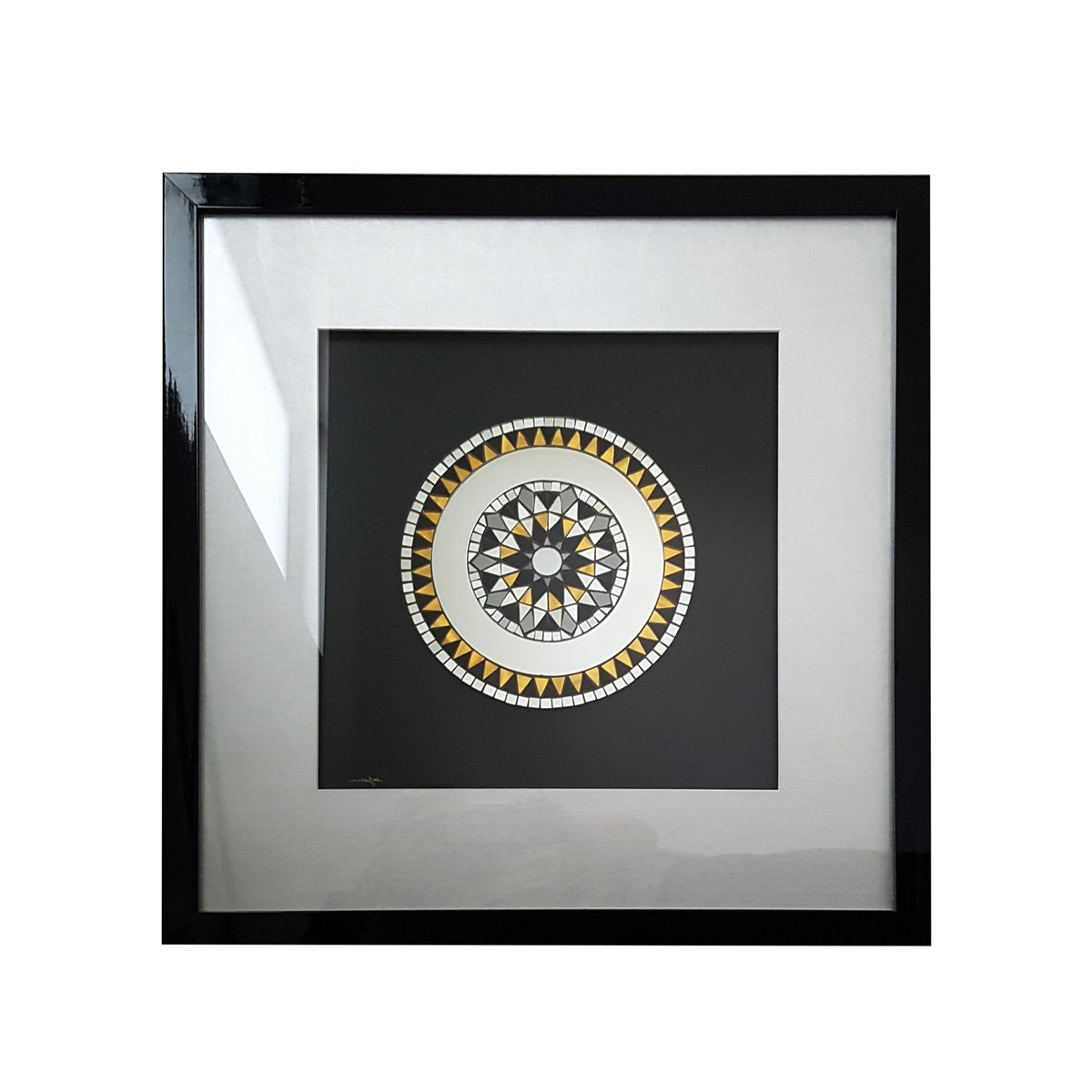 """""""sol And Luna"""" Handmade Mosaic Framed Wall Artmirror Envy 60Cm With Regard To Most Up To Date Mosaic Framed Wall Mirrors (View 19 of 20)"""