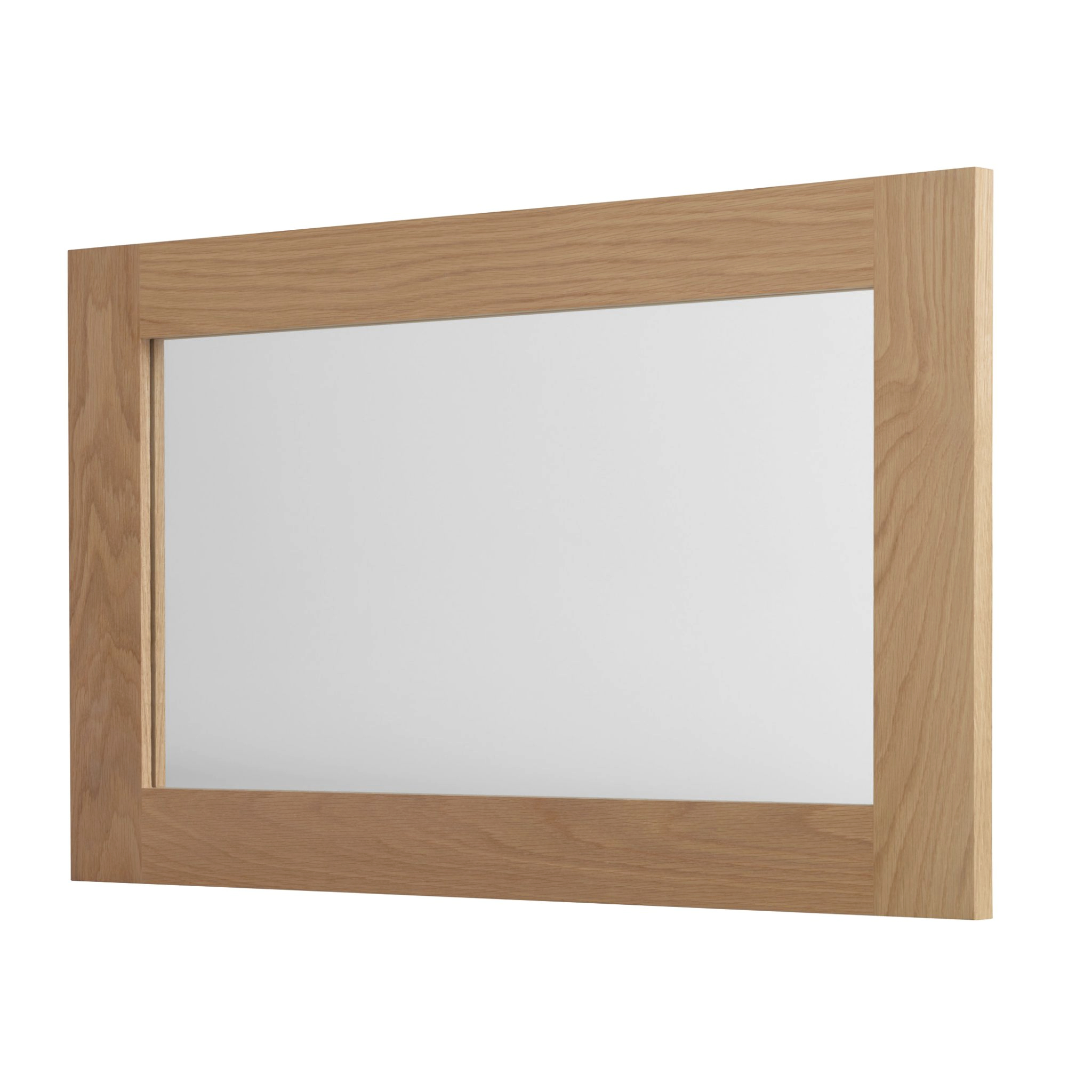 Solid Oak Wall Mirror Large American White Oak Pertaining To Well Known Oak Wall Mirrors (View 3 of 20)