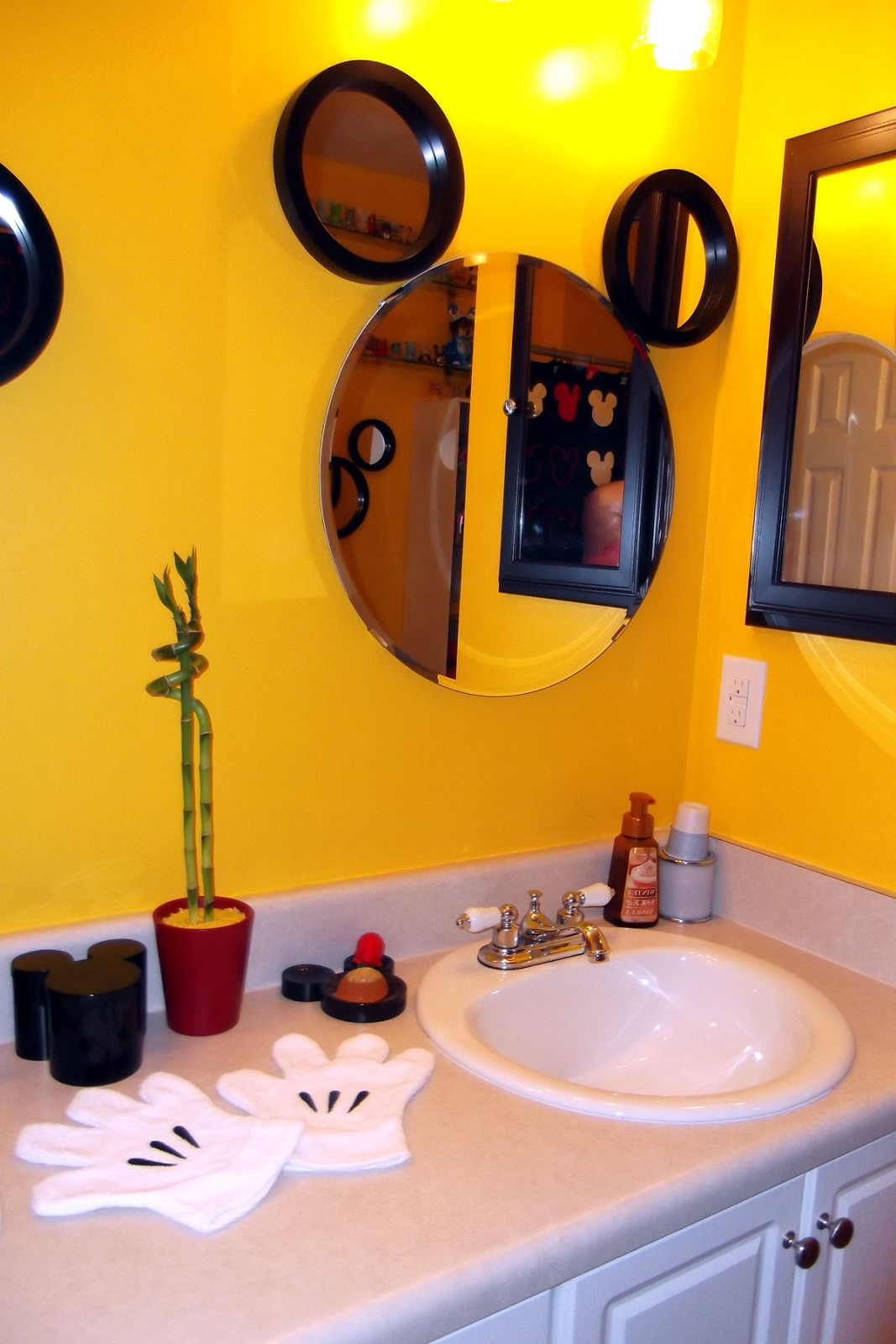 Spectacular Mickey Mouse Bathroom Set — Home Decor With Favorite Mickey Mouse Wall Mirrors (View 16 of 20)