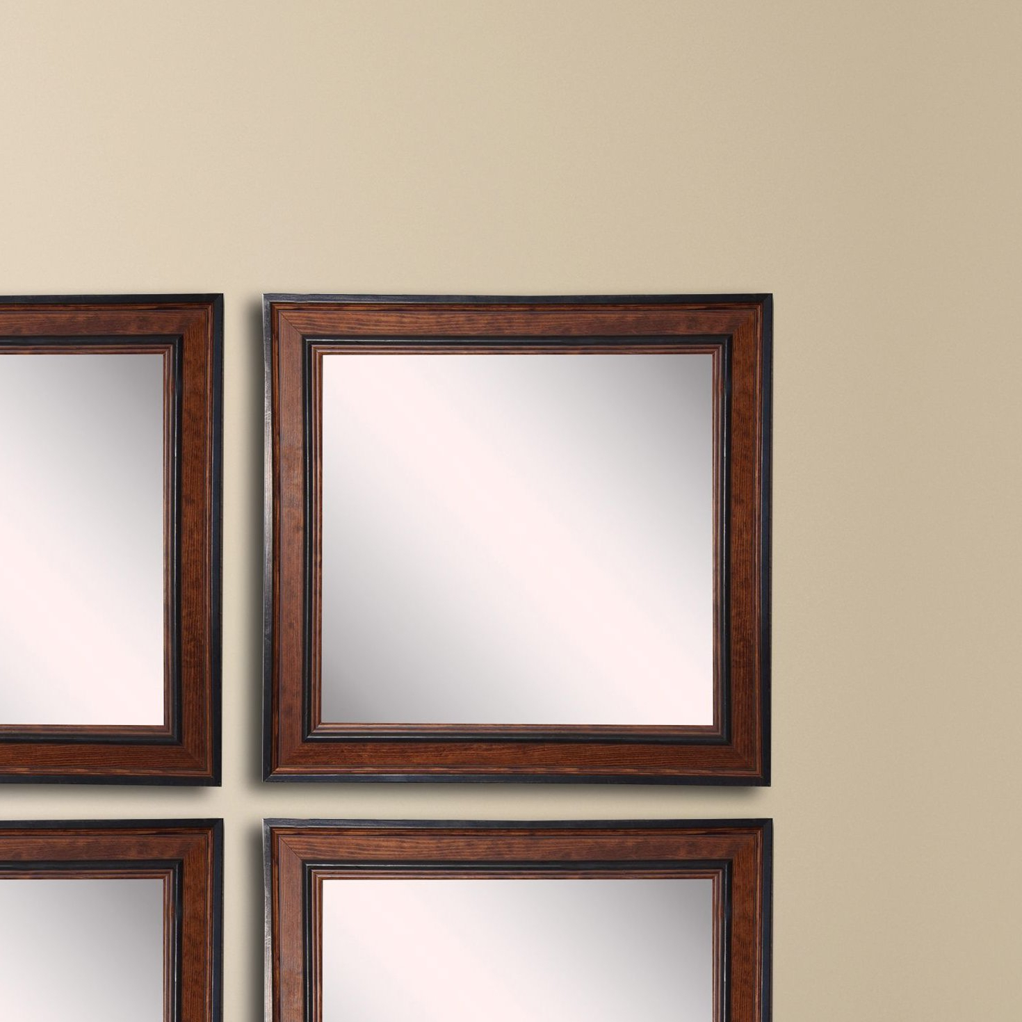 Square Country Pine Wall Mirror Inside Favorite Pine Wall Mirrors (View 11 of 20)
