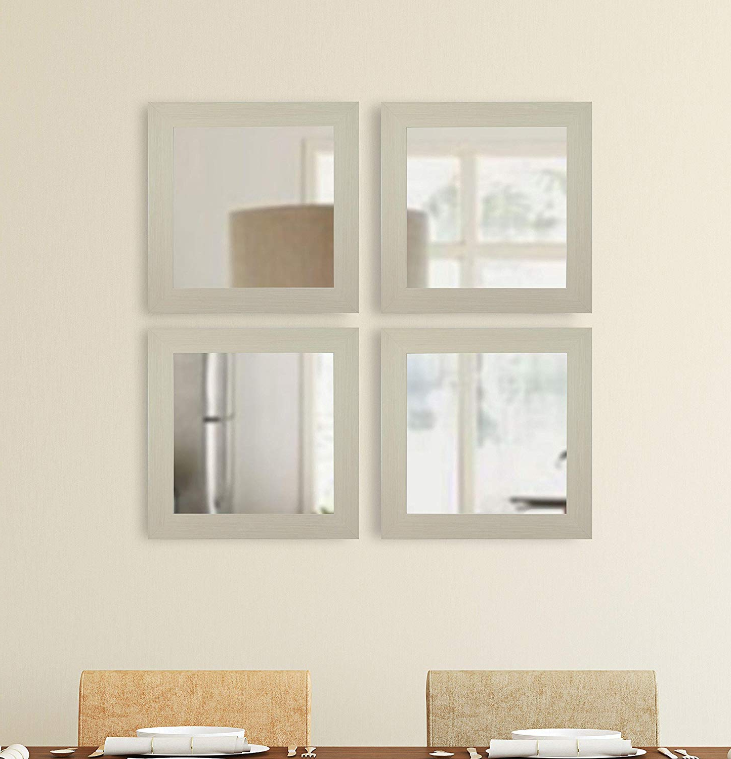 Square Wall Mirror Sets Inside Widely Used Amazon: Rayne Mirrors Arctic Square Wall Mirror – Set Of (View 11 of 20)